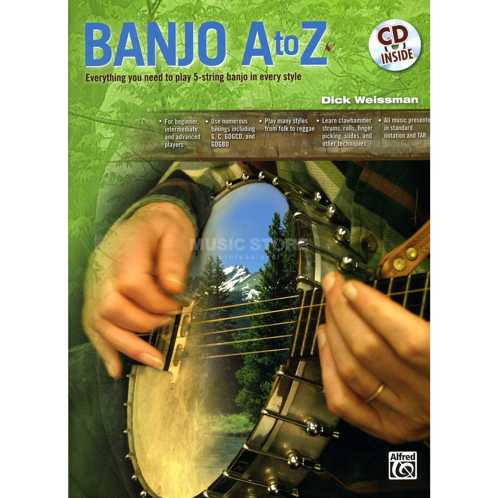 Alfred Music Banjo A to Z Book and CD Produktbillede
