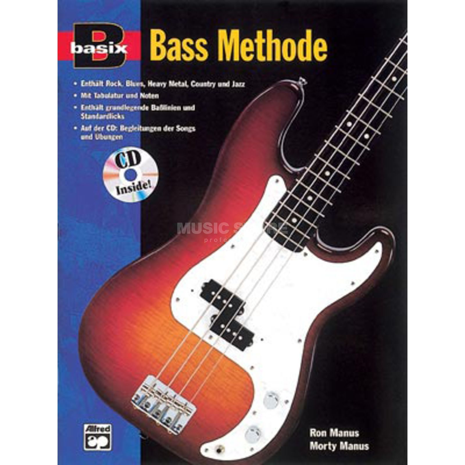 Alfred Music Basix Bass Methode Manus, Manus inkl. CD Produktbild
