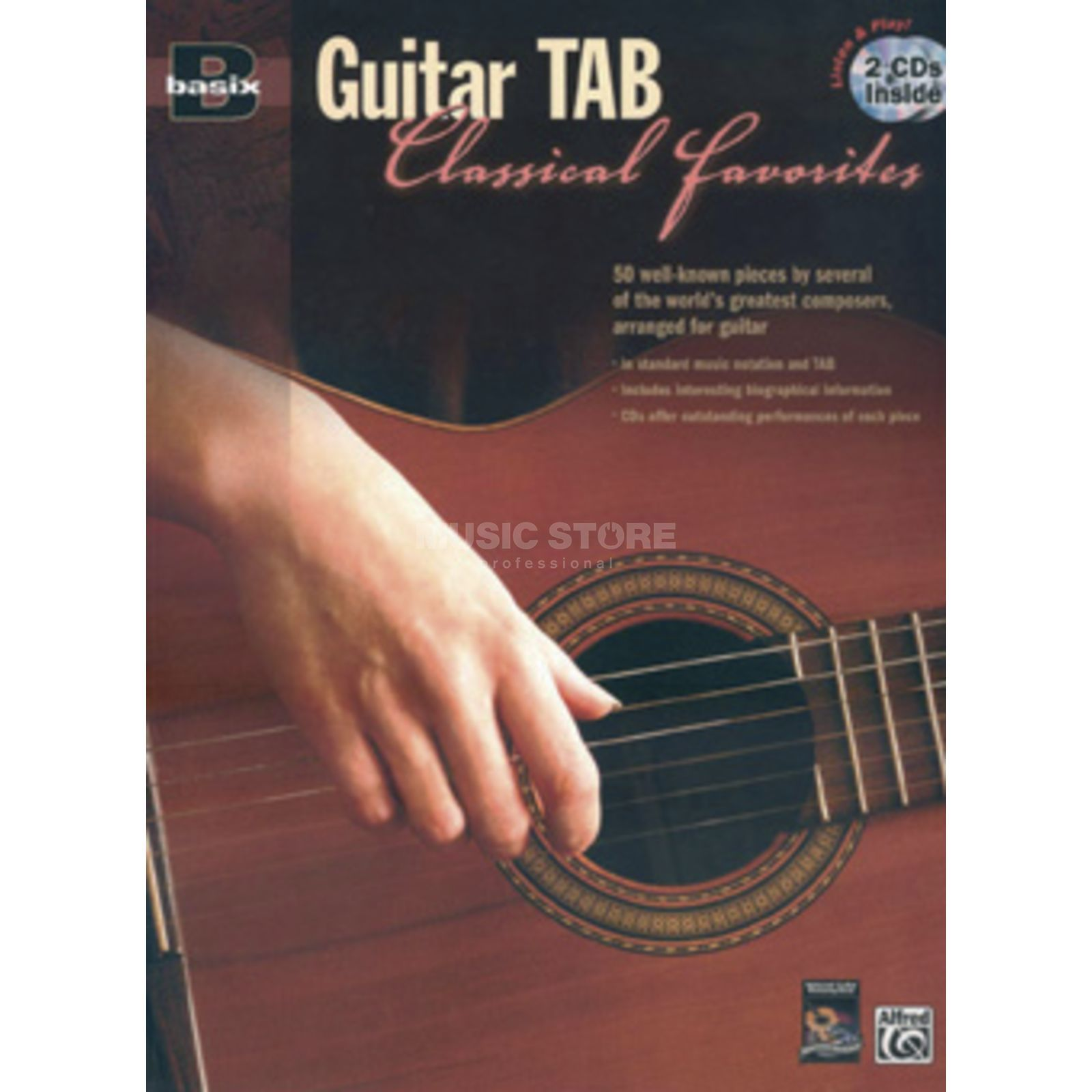 Alfred Music Basix Guitar Tab Classical Favorites Produktbild