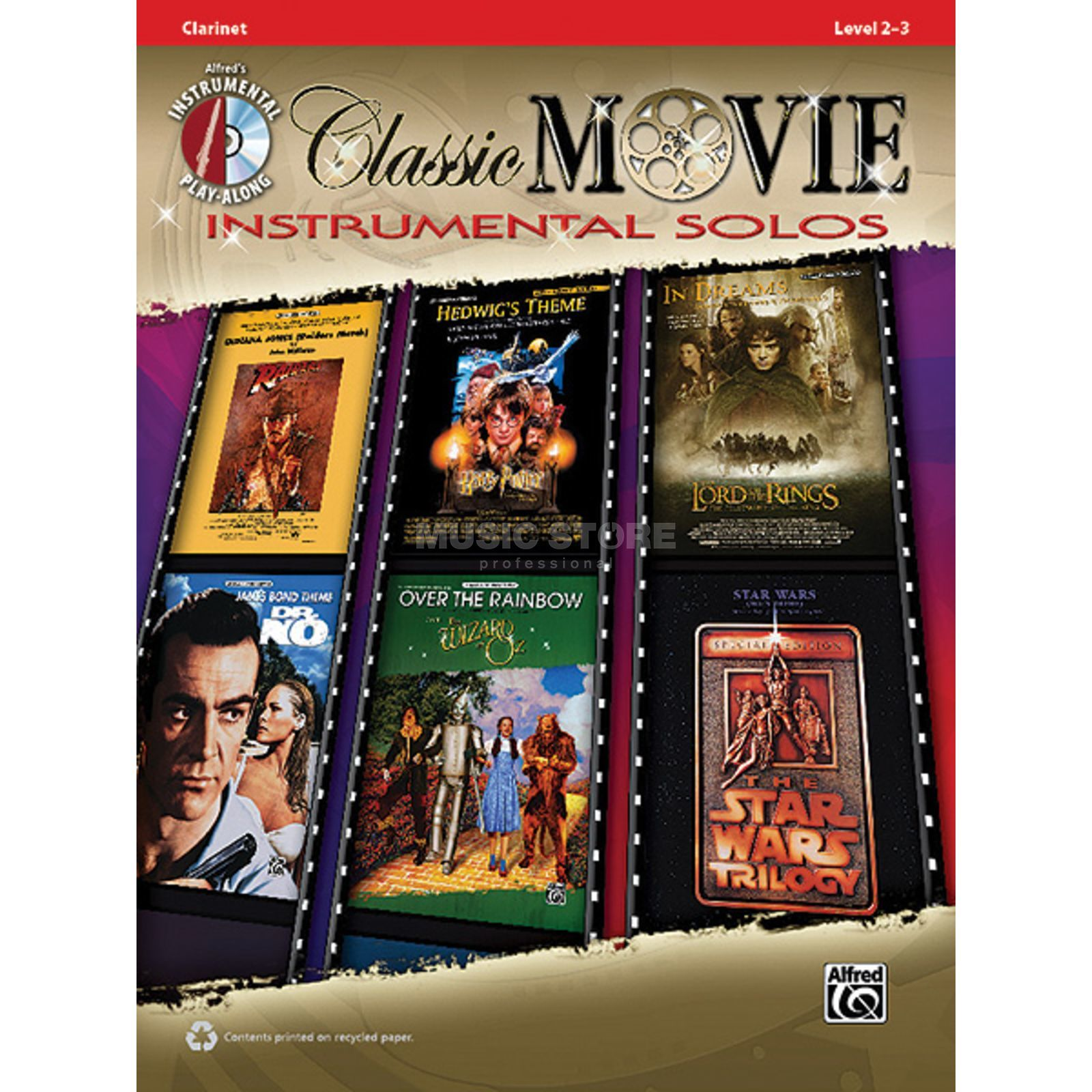 Alfred Music Classic Movie - Clarinet Instrumental Solos, Book/CD Produktbillede