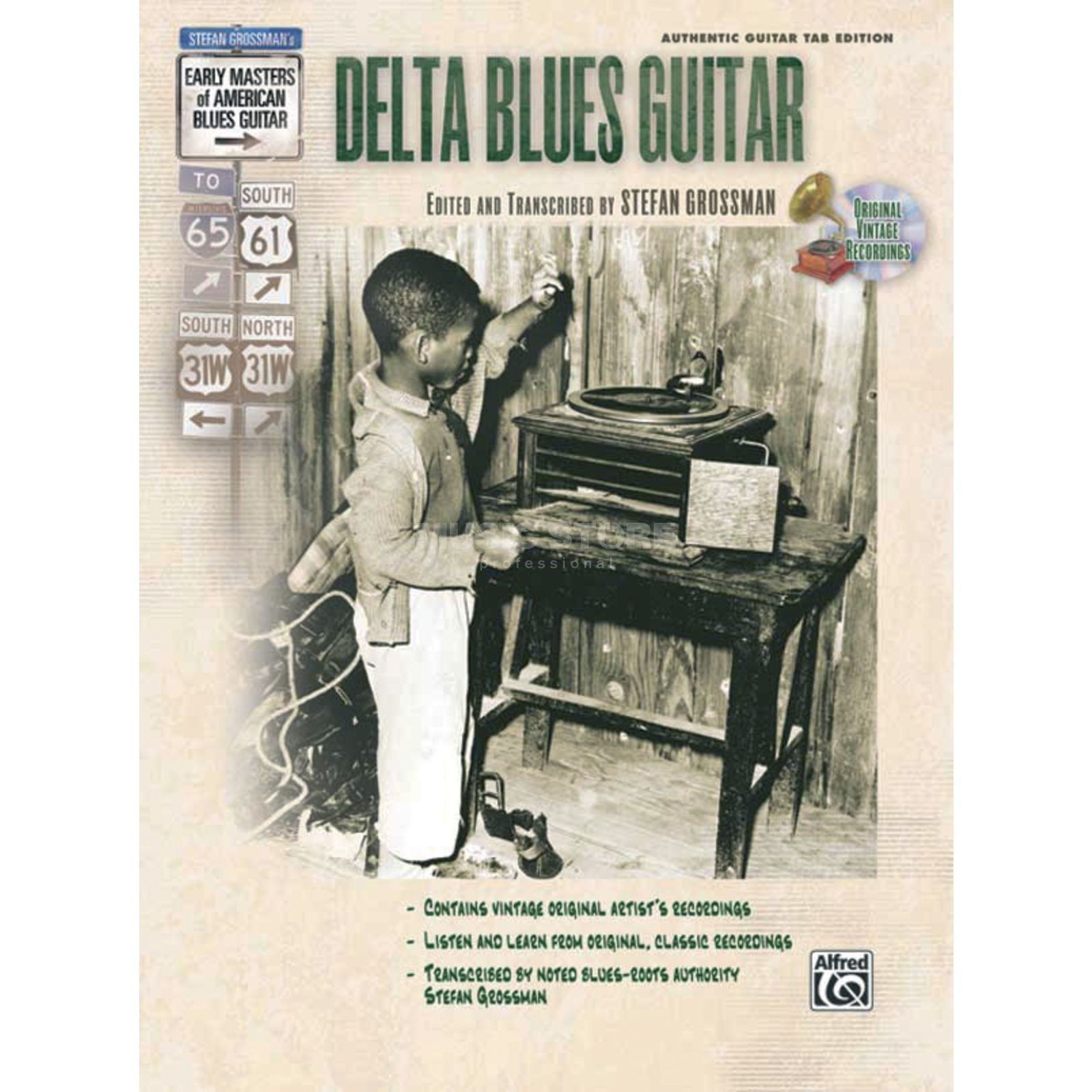 Alfred Music Early Masters - Delta Blues Grossmann, Book and CD Produktbillede