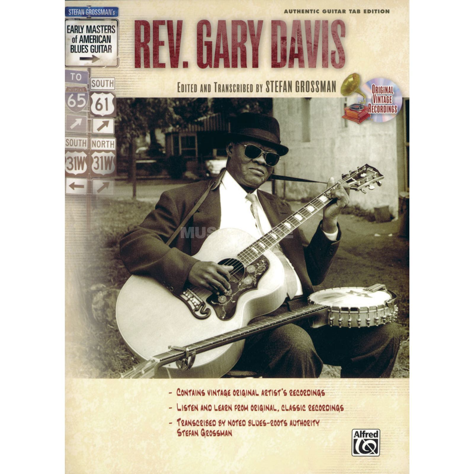 Alfred Music Early Masters - Rev Gary Davis Grossmann, Buch und CD Produktbild