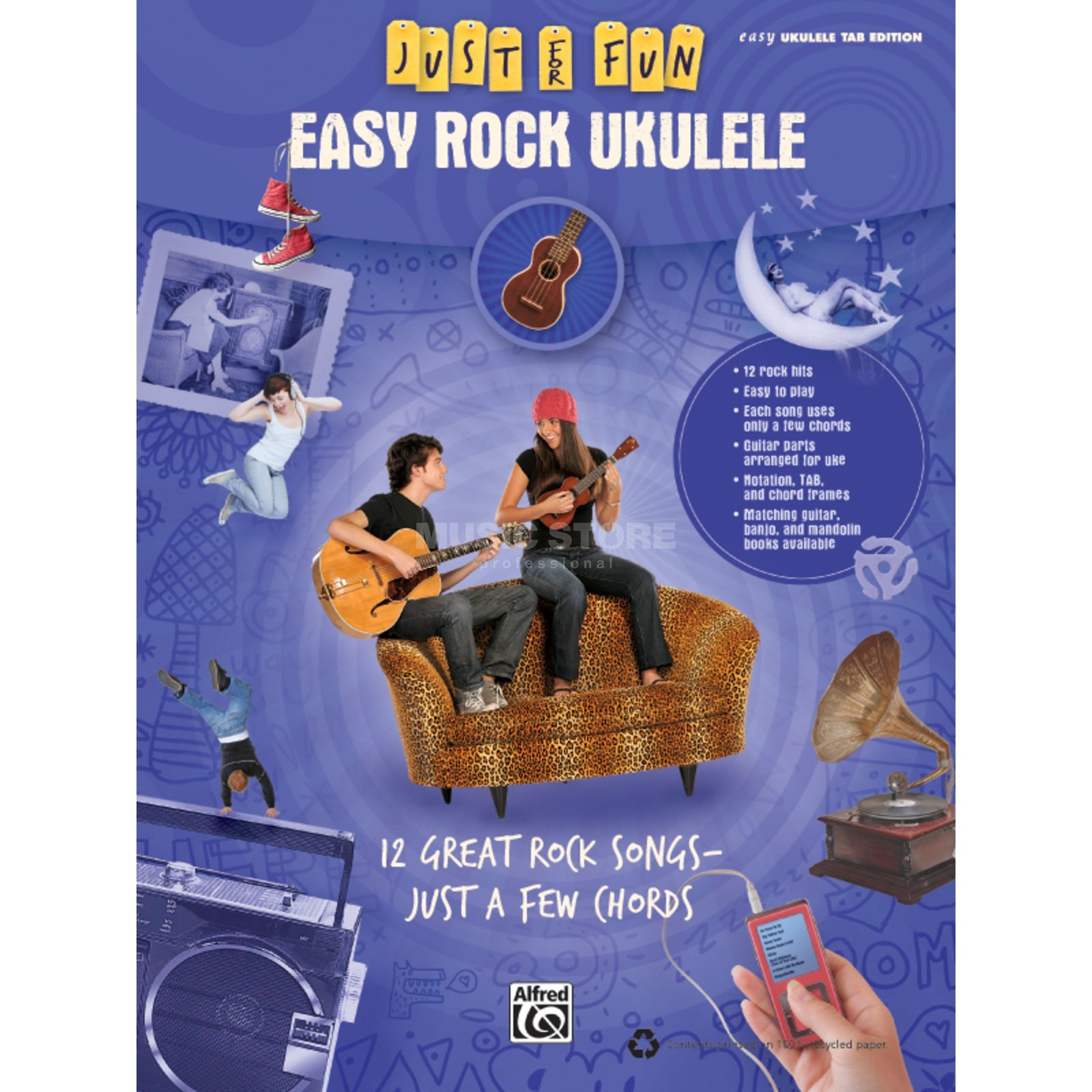 Alfred Music Fun - Easy Rock Ukulele Songbuch Produktbild