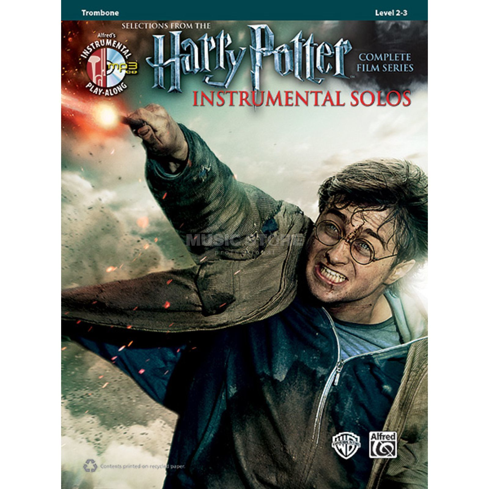 Alfred Music Harry Potter - Trombone Instrumental Solos, Book/CD Produktbillede