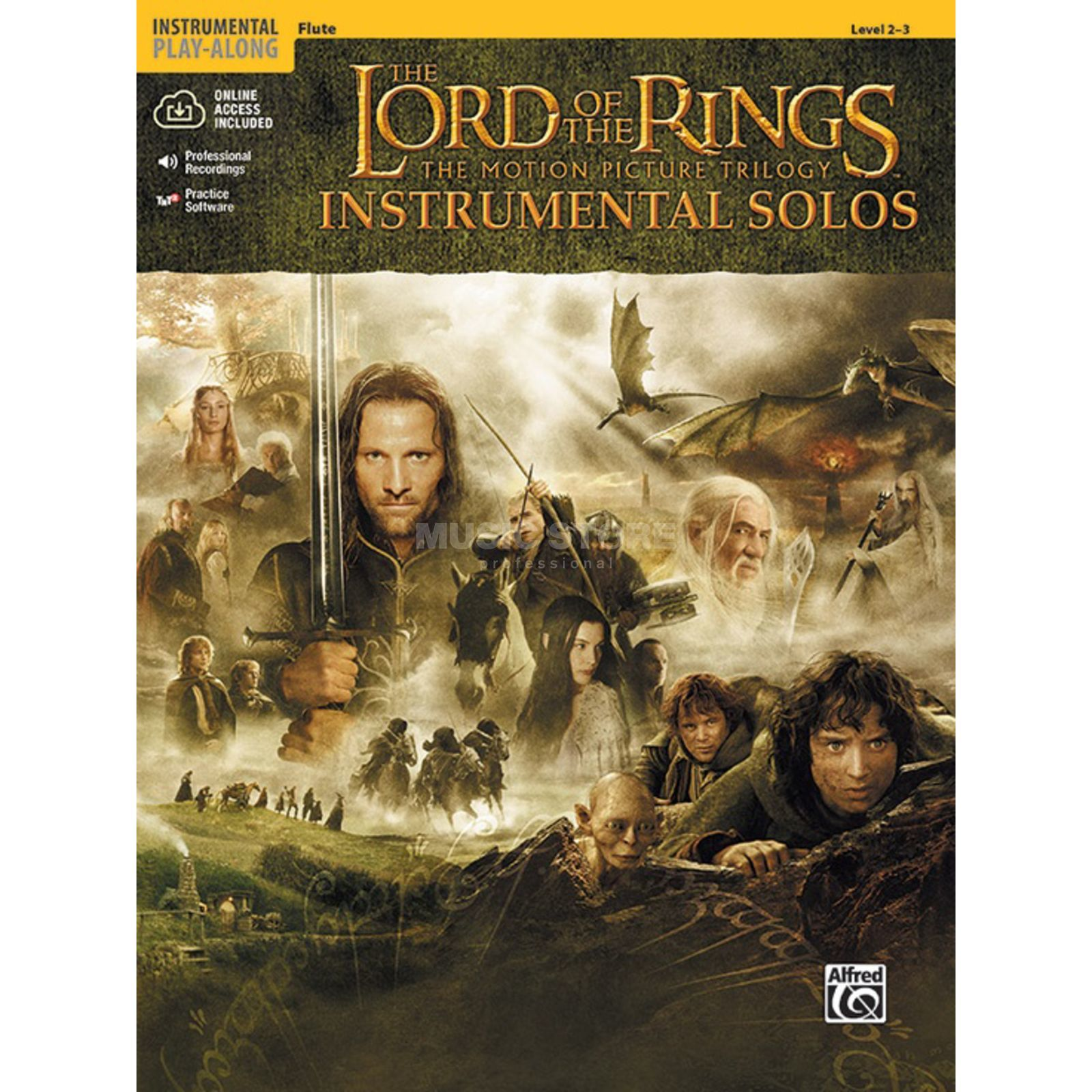 Alfred Music Lord of the Rings - Flute Instrumental Solos, Book/CD Produktbillede