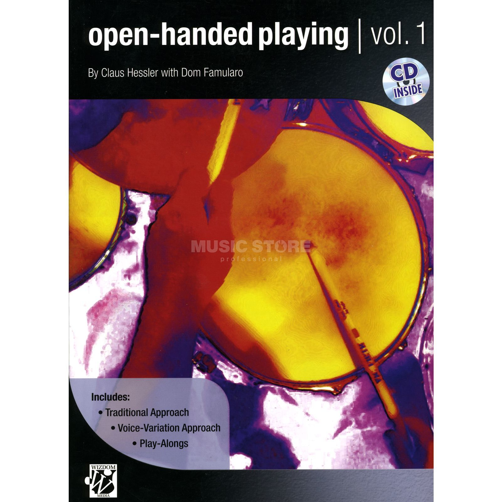 Alfred Music Open - Handed Playing Dom Famularo, Buch/CD Produktbild