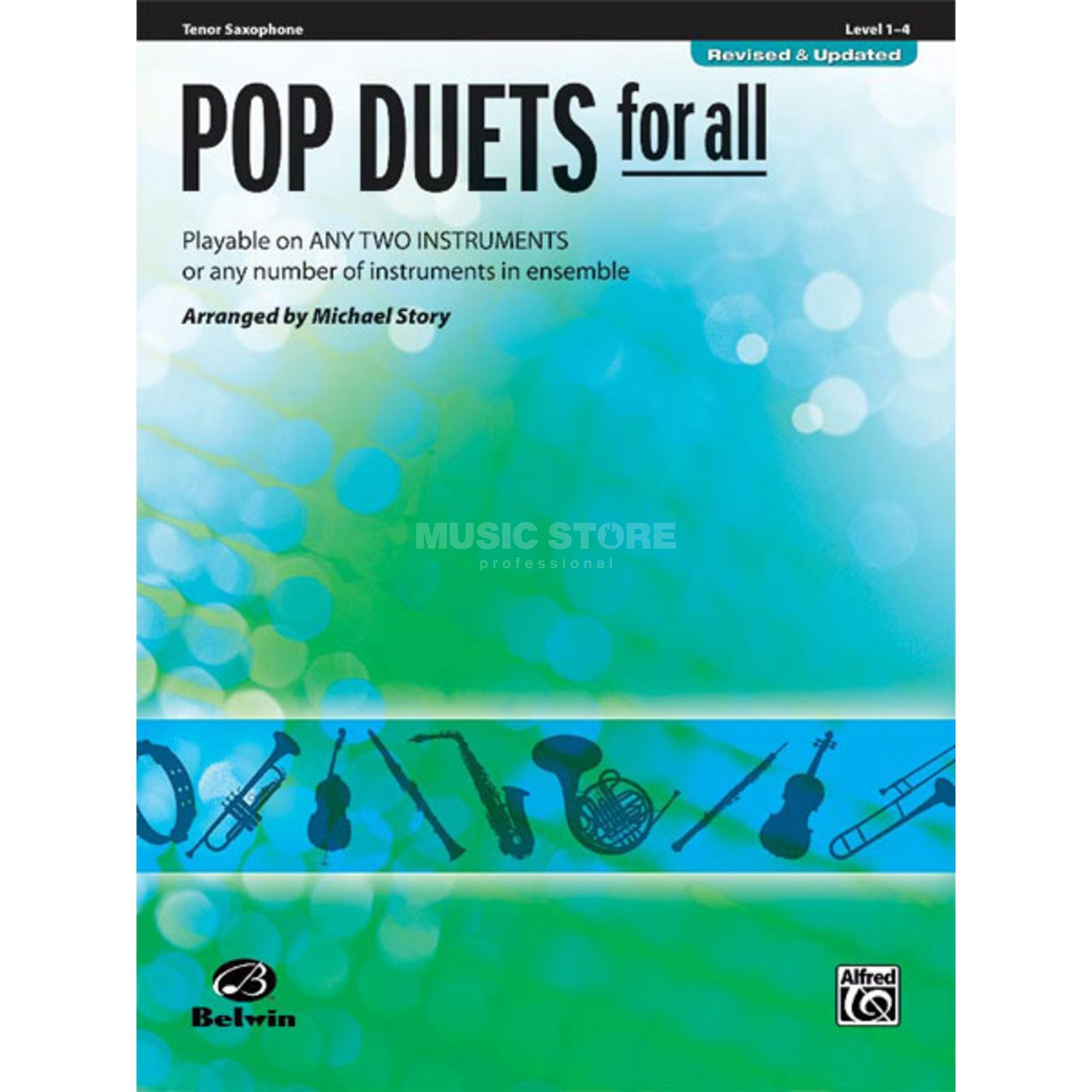 Alfred Music Pop Duets for All - Tenor-Sax Mixed Ensemble Produktbillede