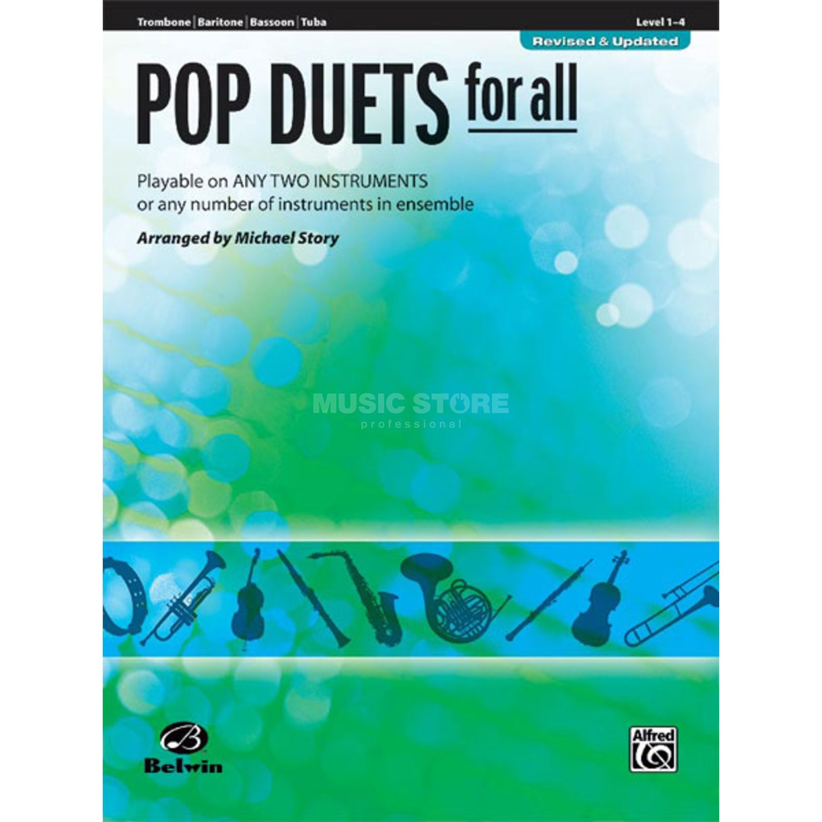 Alfred Music Pop Duets for All - Trombone Mixed Ensemble Produktbillede