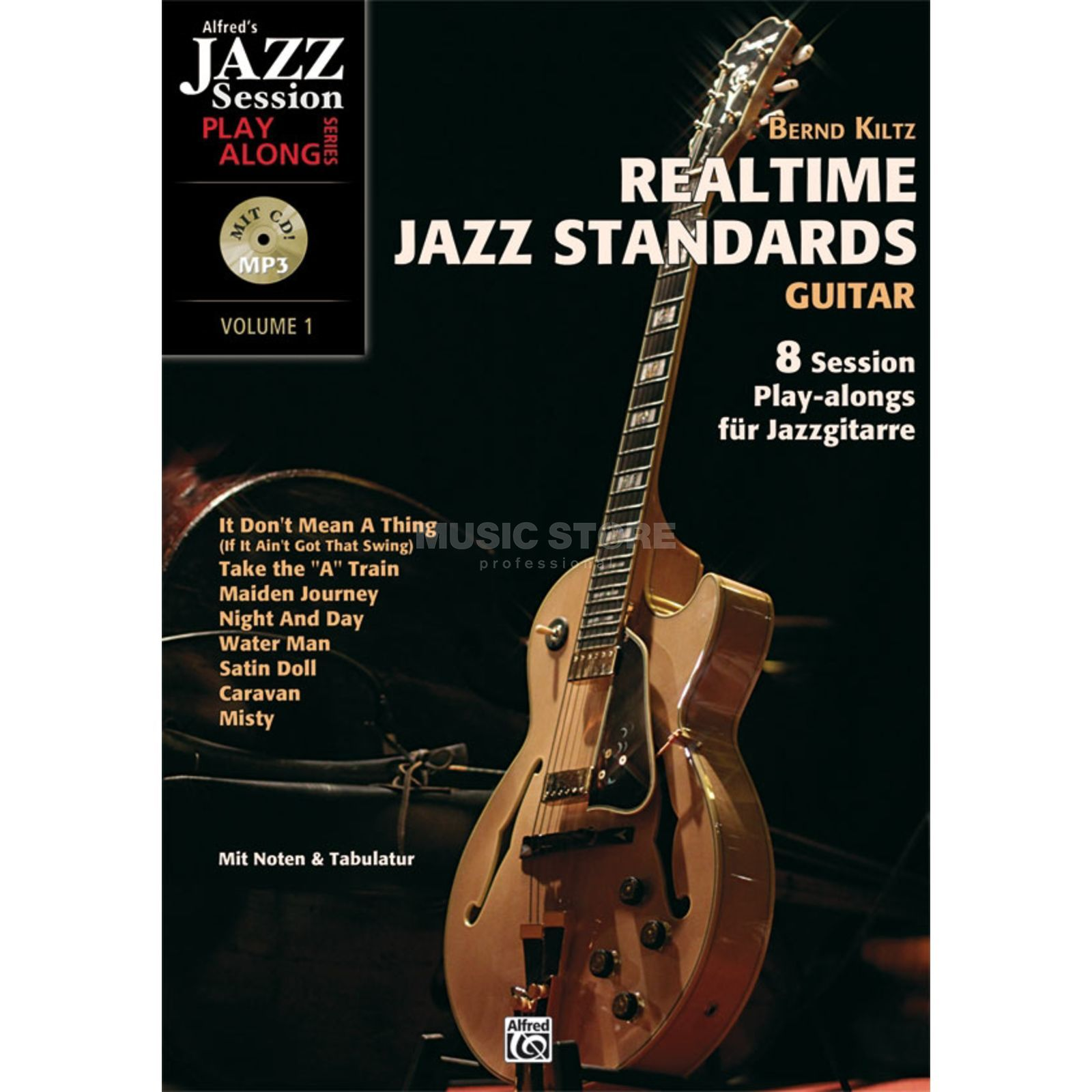 Alfred Music Realtime Jazz Standards - Guitar Produktbild
