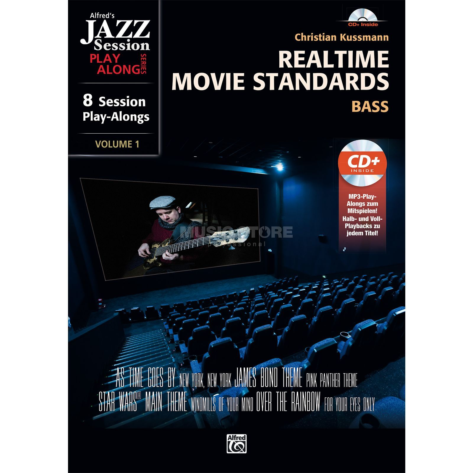 Alfred Music Realtime Movie Standards für Bass Produktbillede