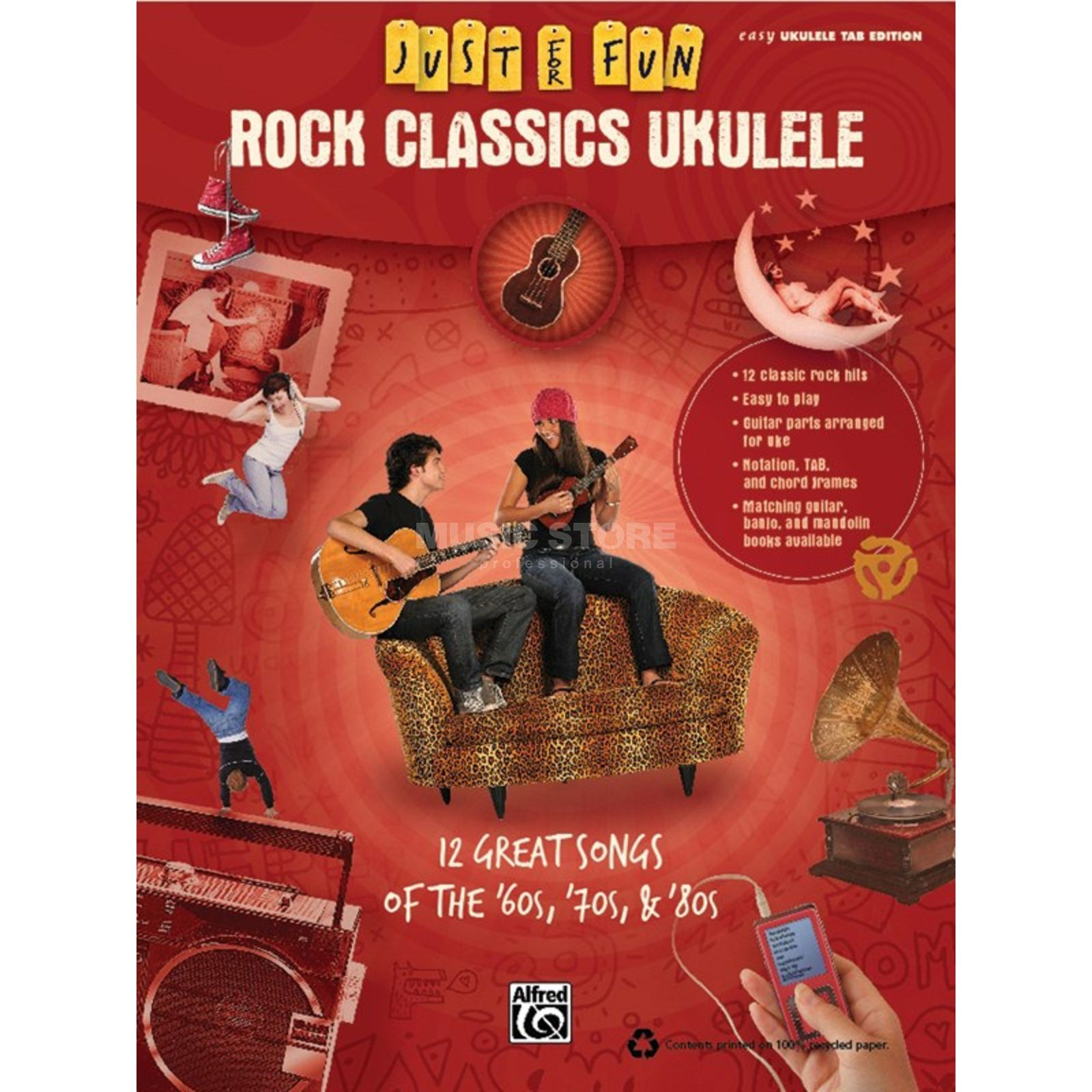Alfred Music Rock Classics - Ukulele Just for Fun Produktbillede