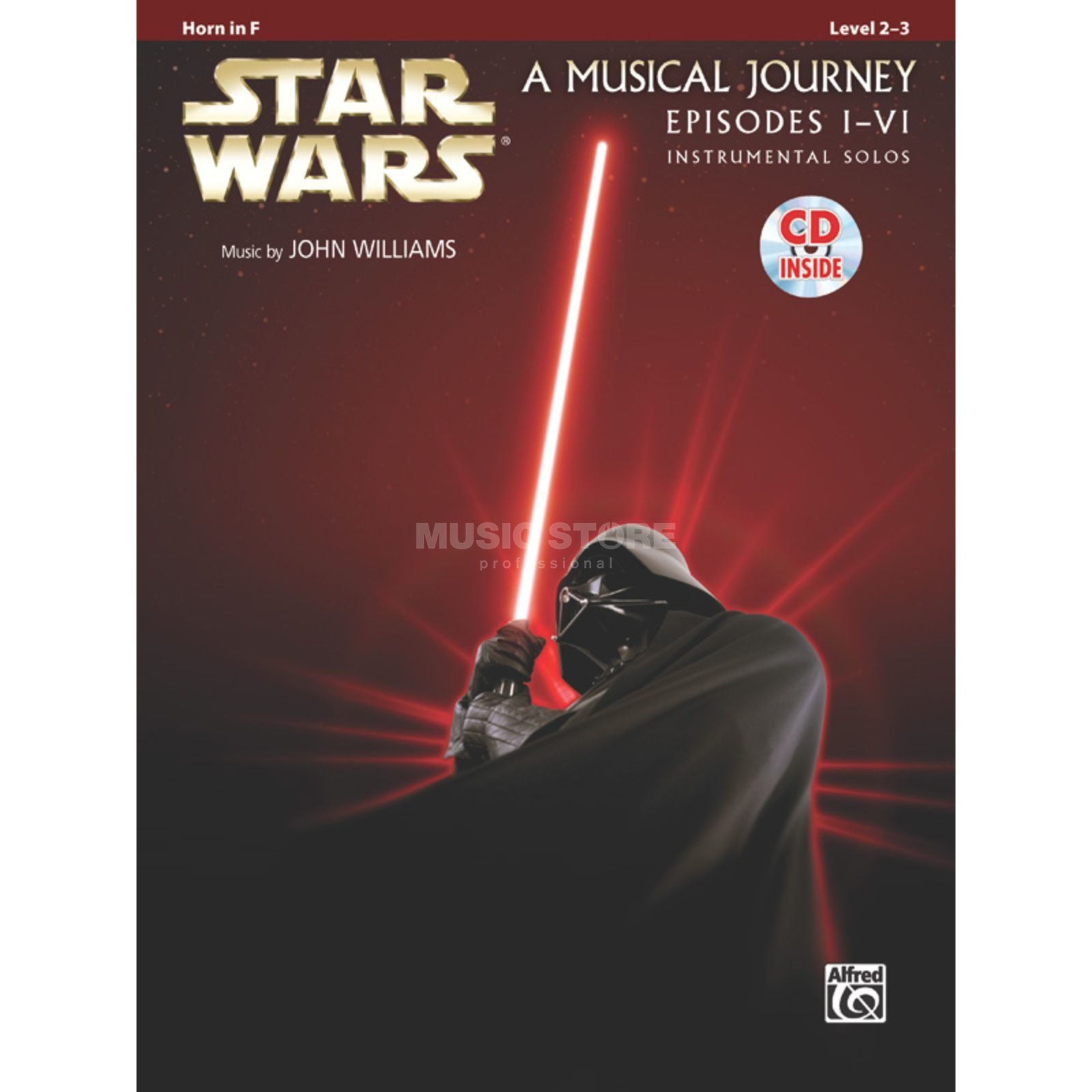 Alfred Music Star Wars 1-6 - Horn in F Instrumental Solos, Book/CD Produktbillede