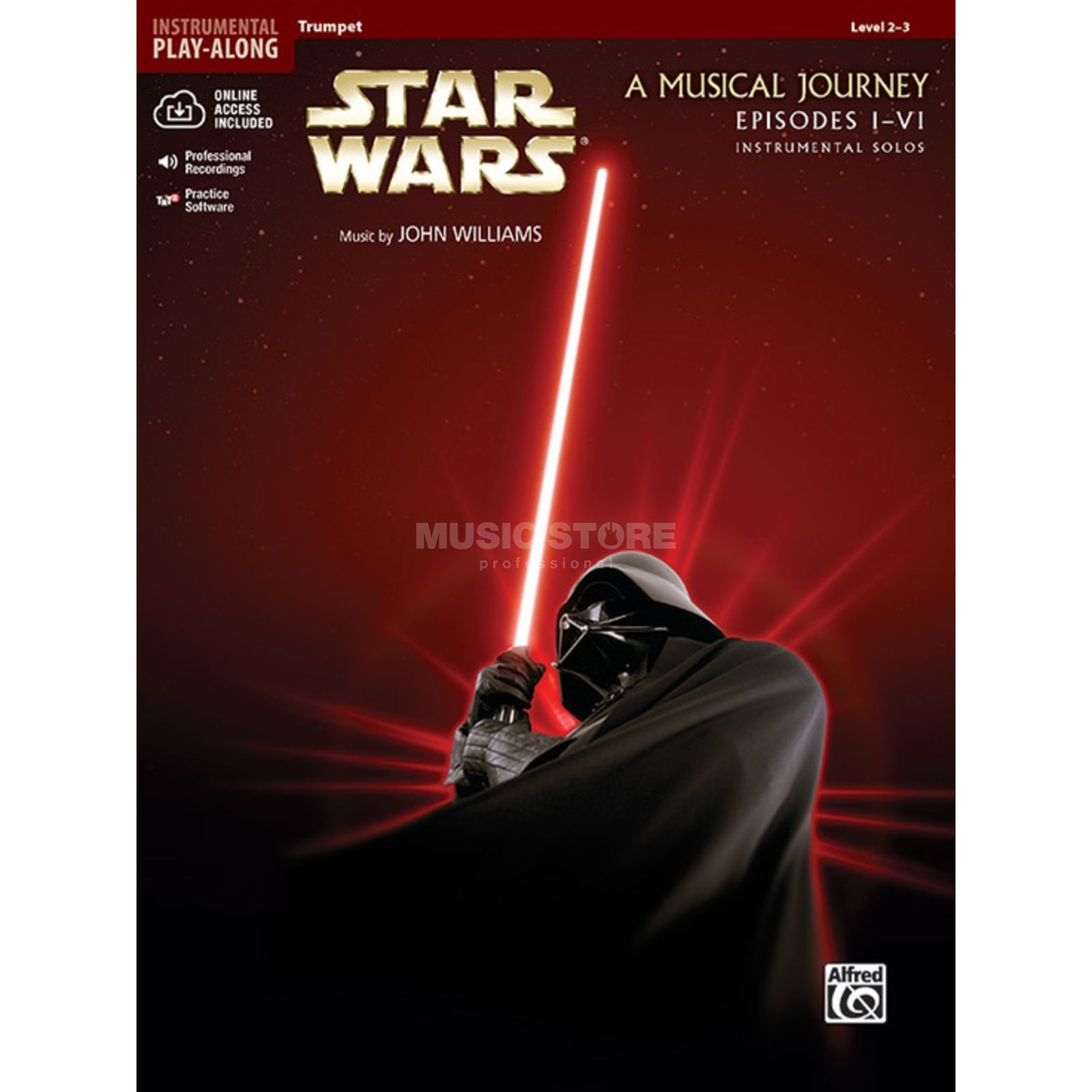 Alfred Music Star Wars 1-6 - Trumpet Instrumental Solos, Book/CD Produktbillede