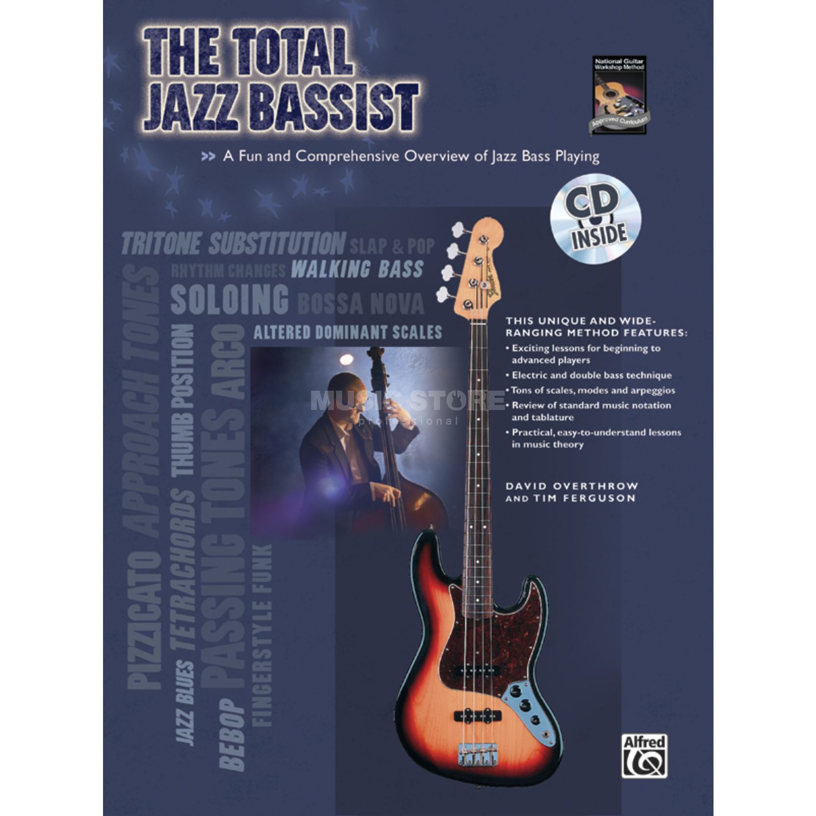 Alfred Music The Total Jazz Bassist David Overthrow, CD Produktbillede
