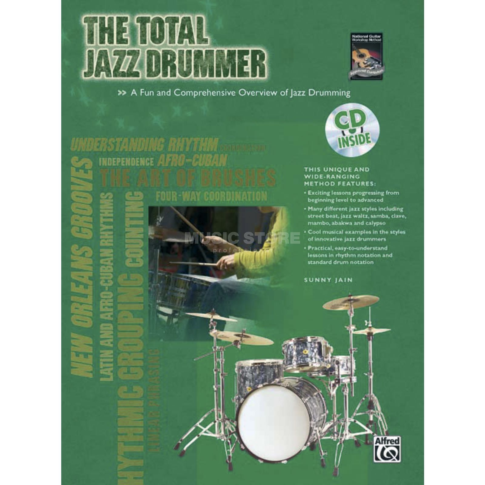 Alfred Music The Total Jazz Drummer Buch und CD Produktbild