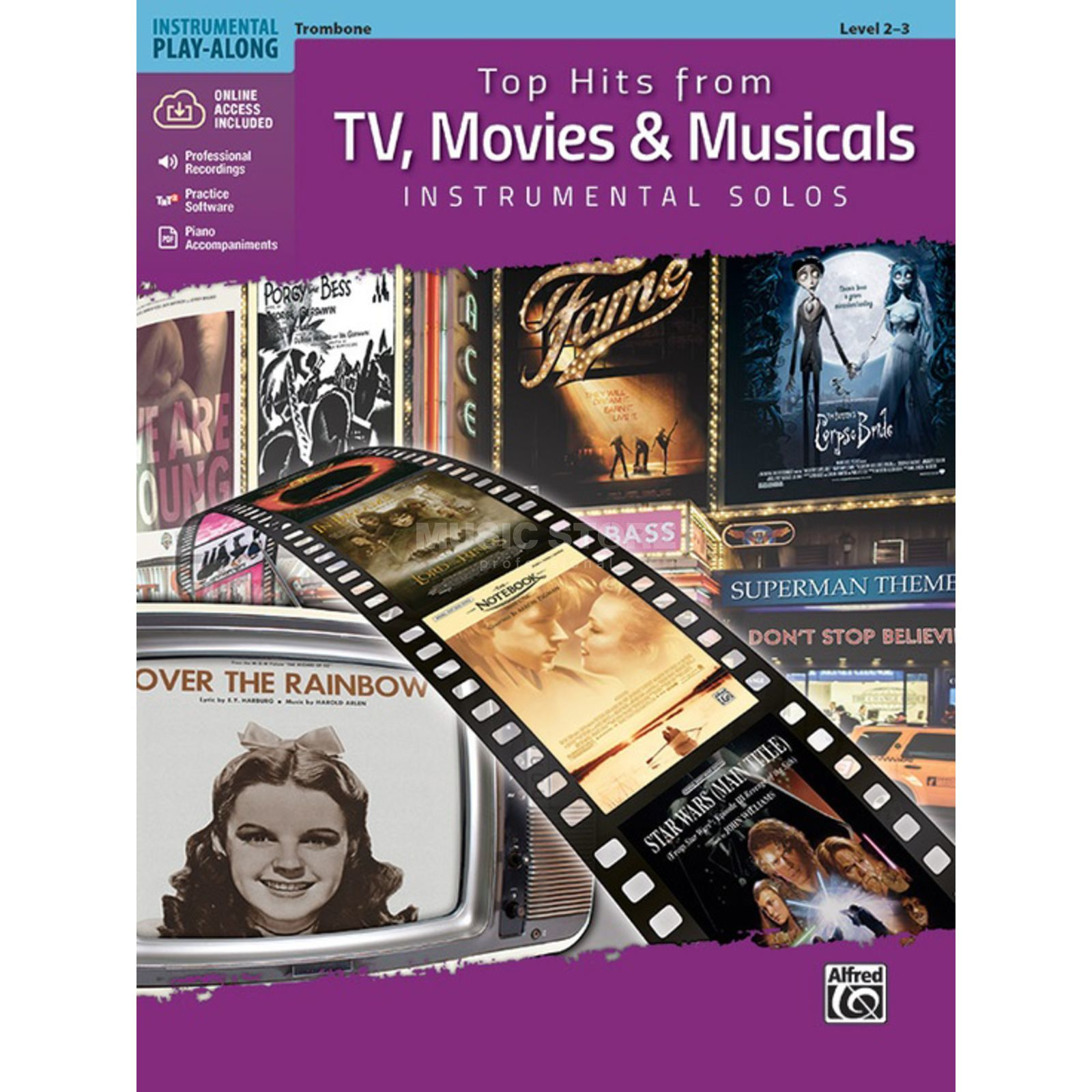 Alfred Music Top Hits from TV, Movies & Musicals – Trombone Productafbeelding