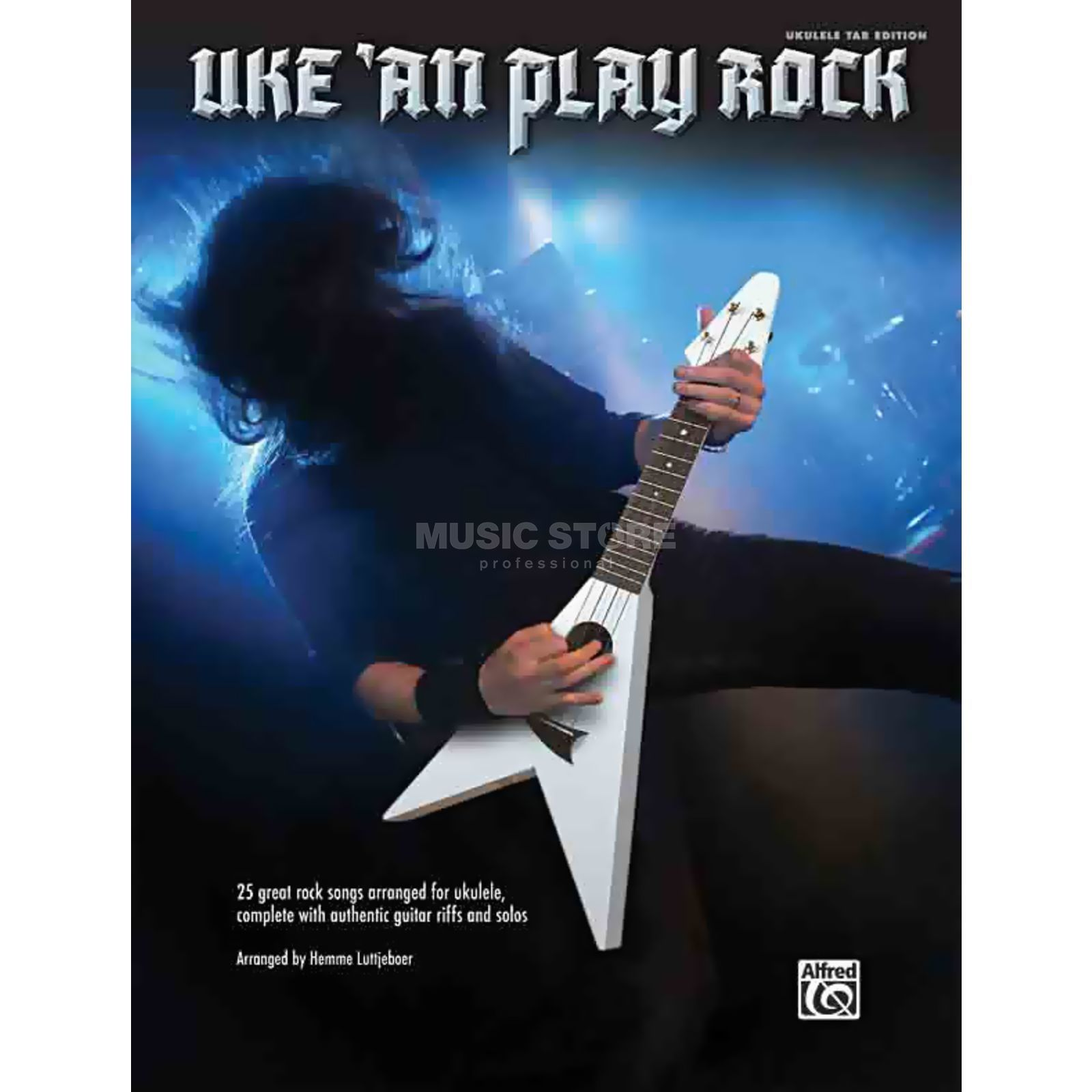 Alfred Music Uke-An-Play Rock Rock Songs Ukulele TAB Produktbillede