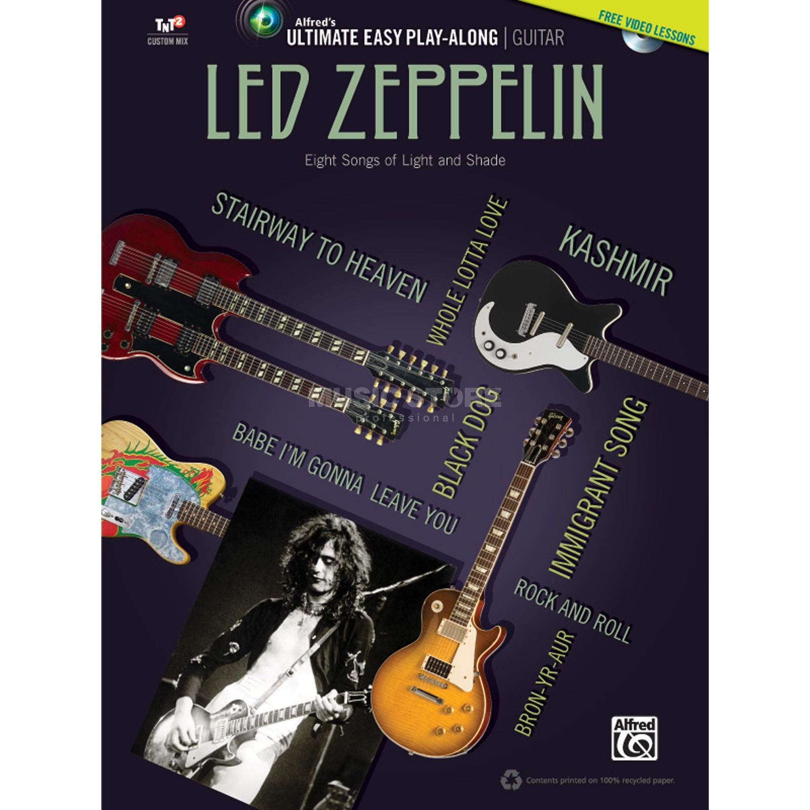 Alfred Music Ultimate Easy Guitar Play-Along: Led Zeppelin Produktbild