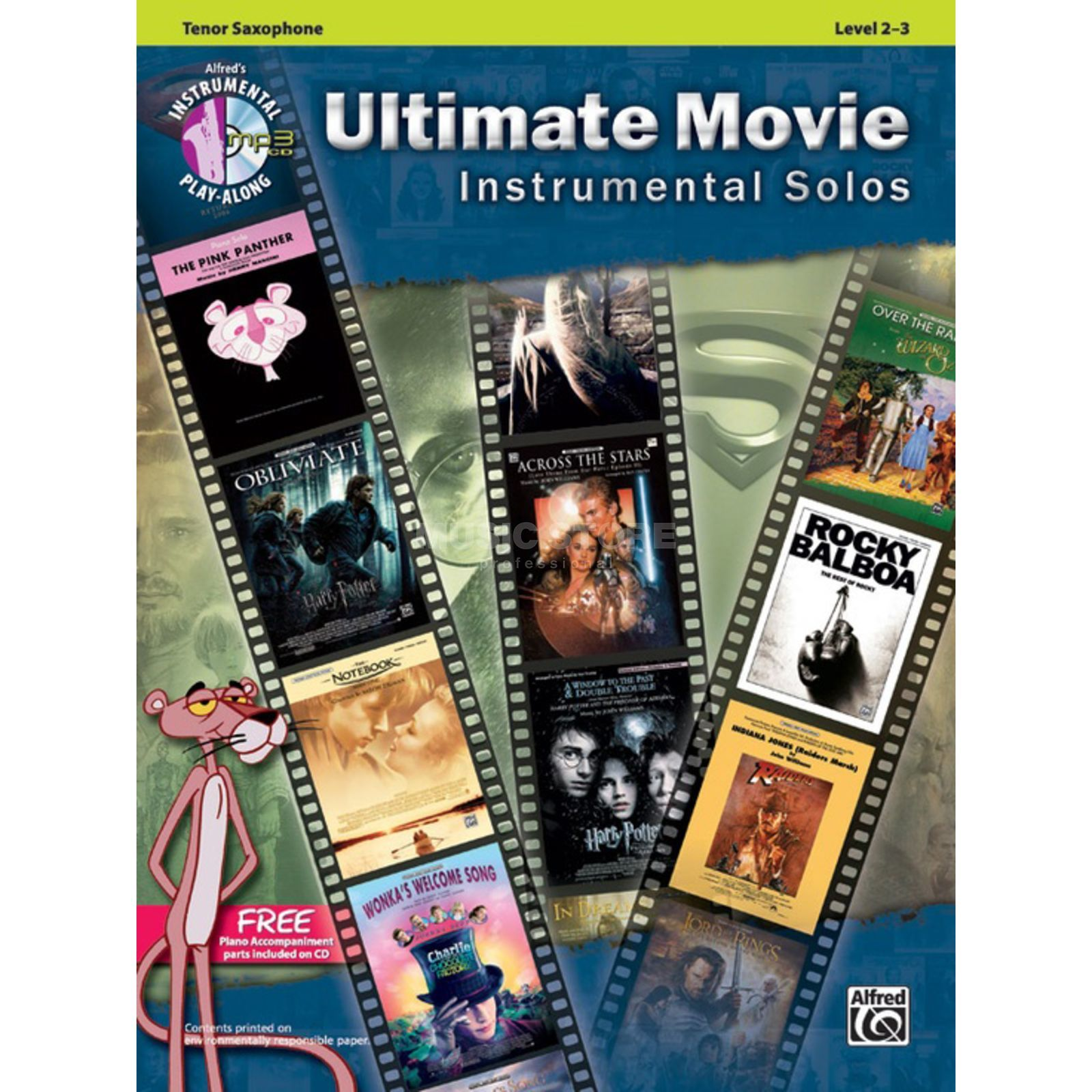 Alfred Music Ultimate Movie - Tenor-Sax Instrumental Solos, Book/CD Produktbillede