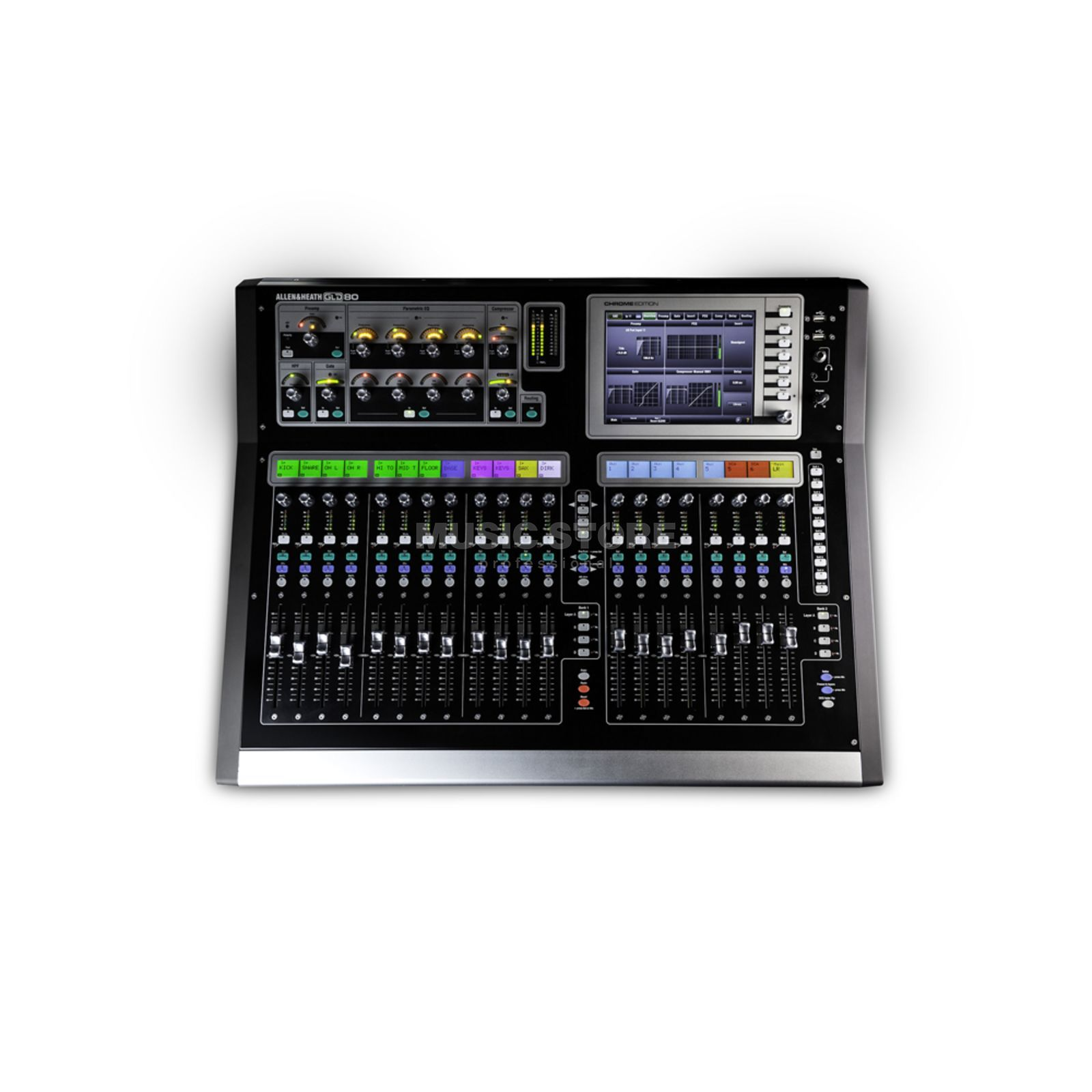 Allen & Heath GLD-80 Digital Mixer Chrome 30 Busse, 8 Stereo FX Returns Produktbild
