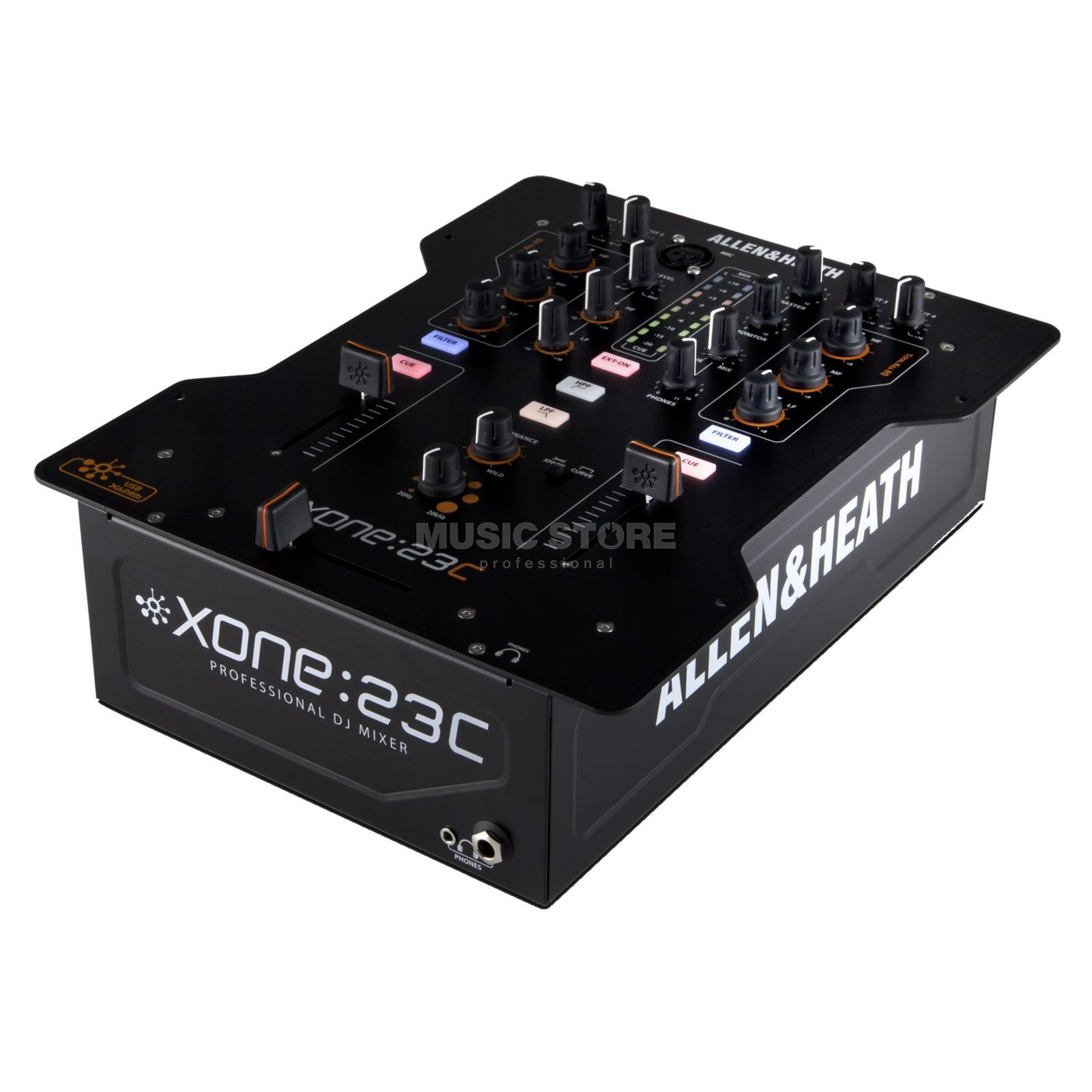 Allen & Heath Xone:23C 2-Channel DJ-Mixer with Sound Card Produktbillede