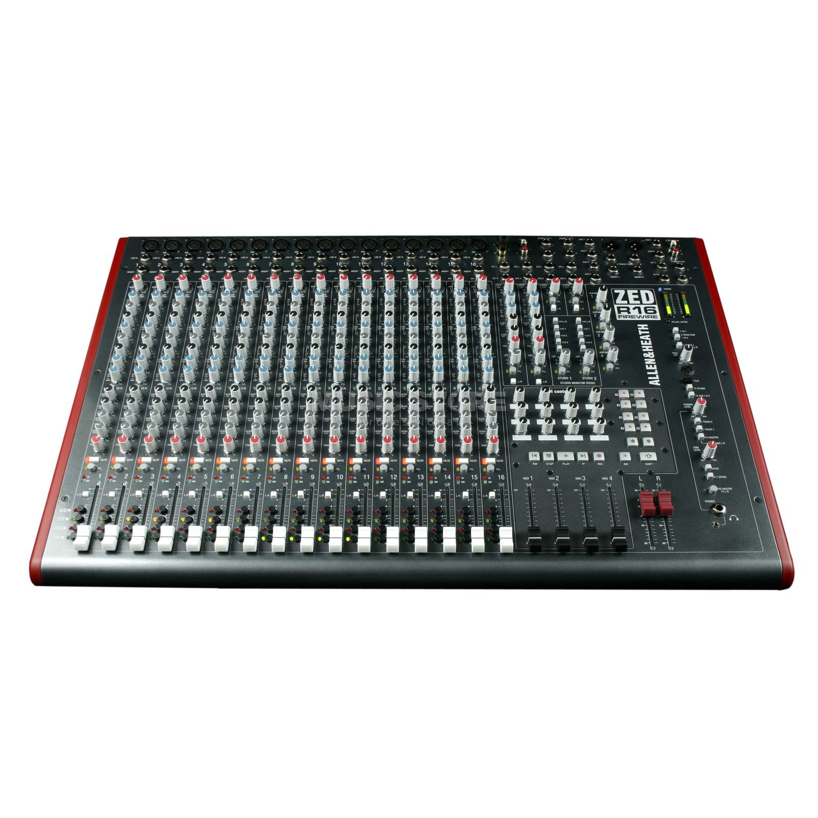 Allen & Heath ZED-R16 Live Sound Firewire Recording Mixer Product Image