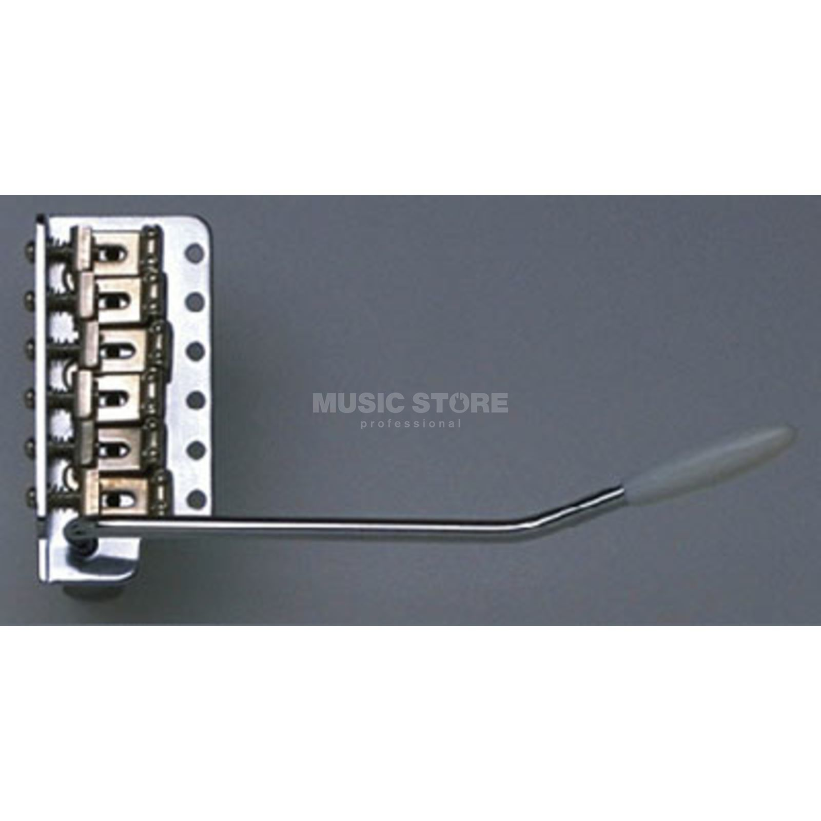 Allparts 57/62 Original Vintage Tremolo Curved Saddle,Steelblock,Chrom Produktbillede
