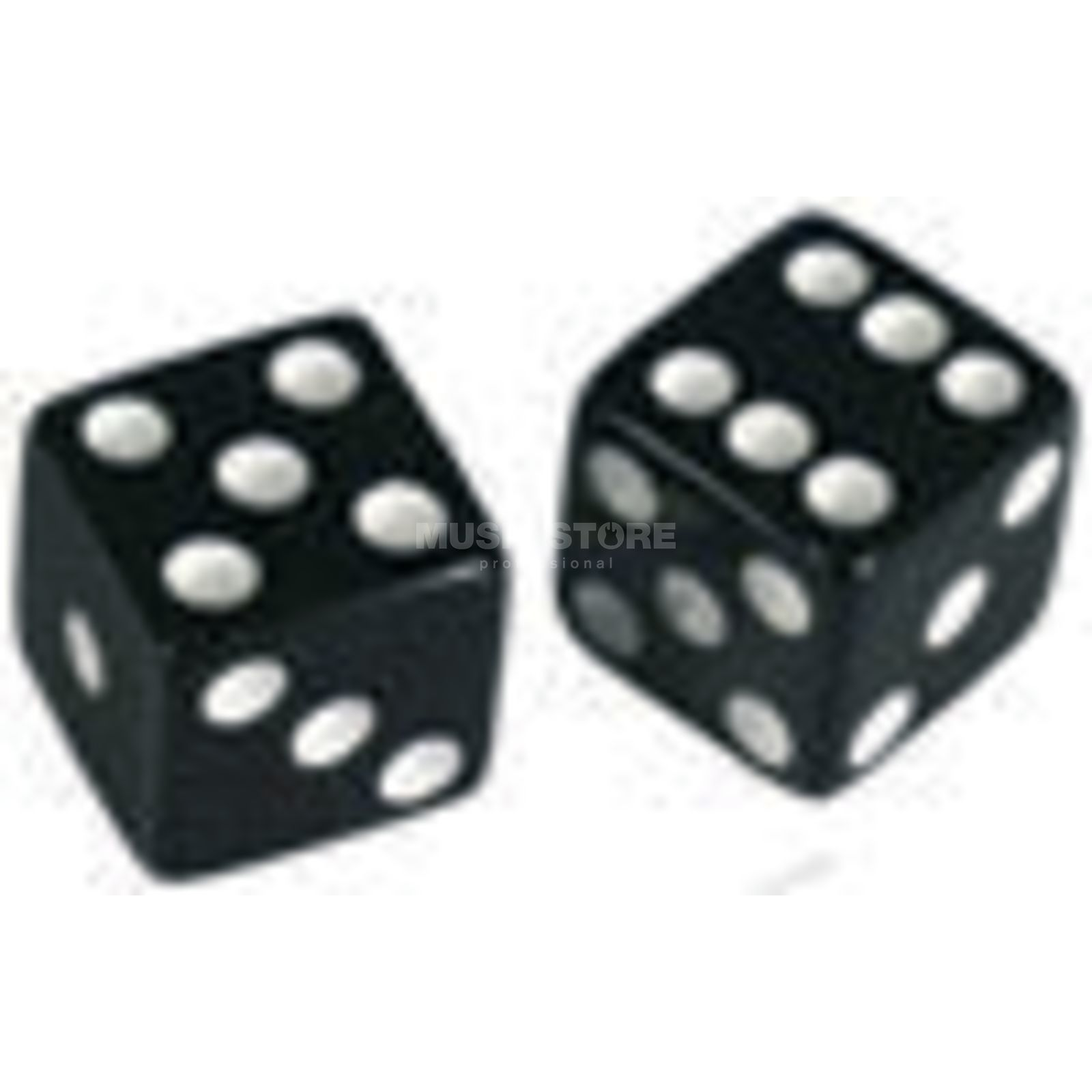 "Allparts Poti Knobs ""Dice"" Set of 2 Black Produktbild"
