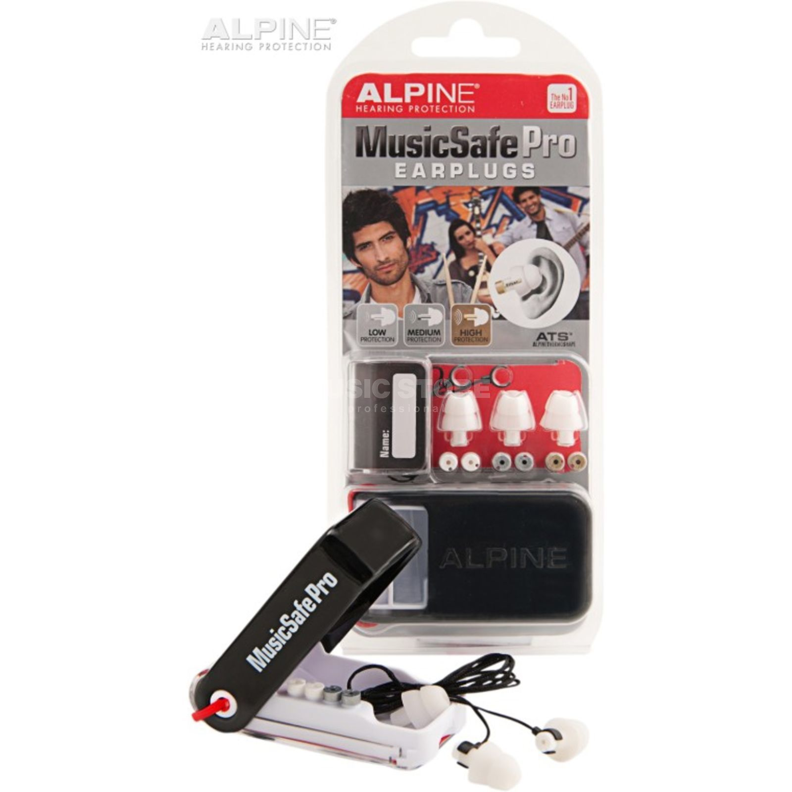 Alpine MusicSafe Pro Ear Protection, White Edition Produktbillede