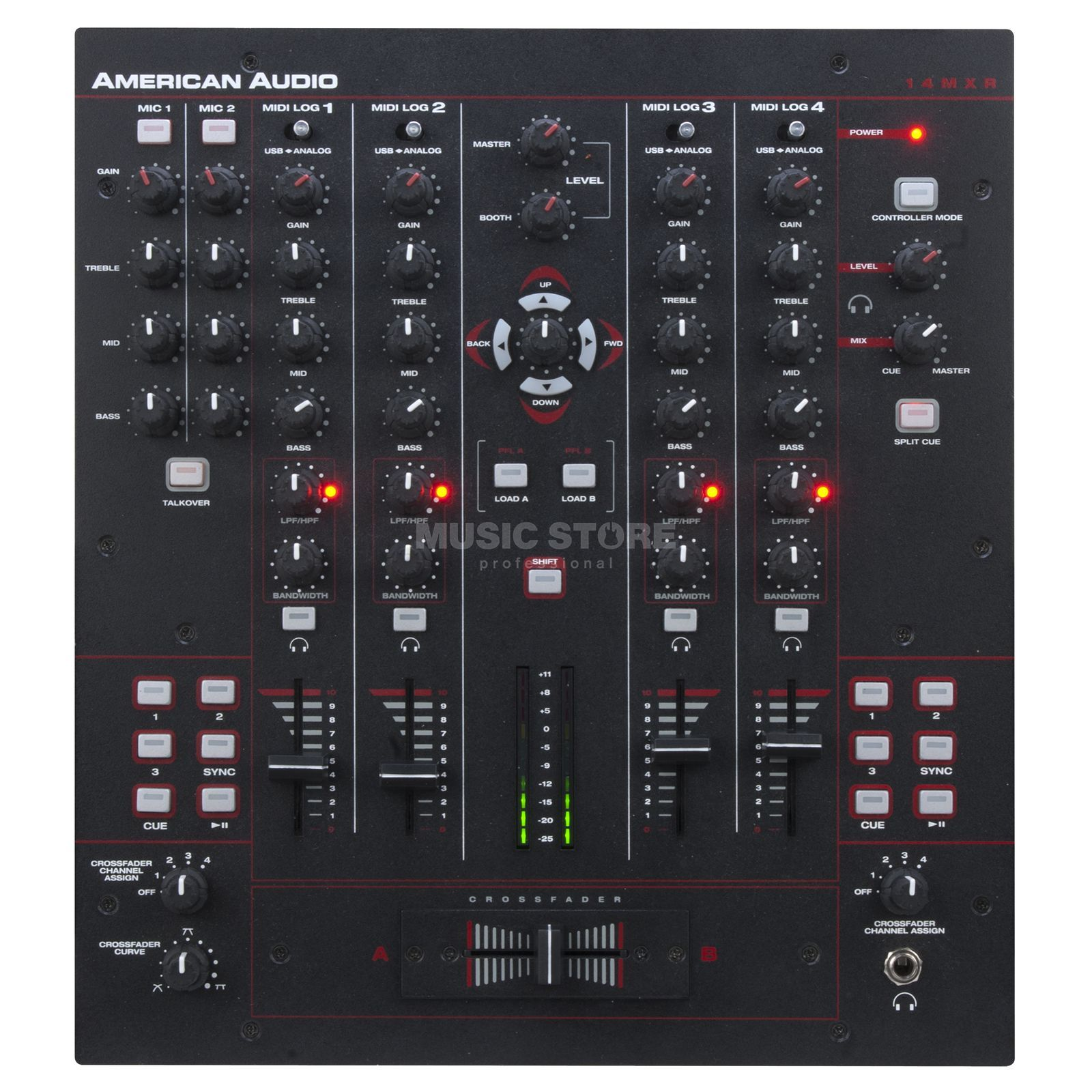 American Audio 14 MXR 4-Channel MIDILOG Mixer Product Image