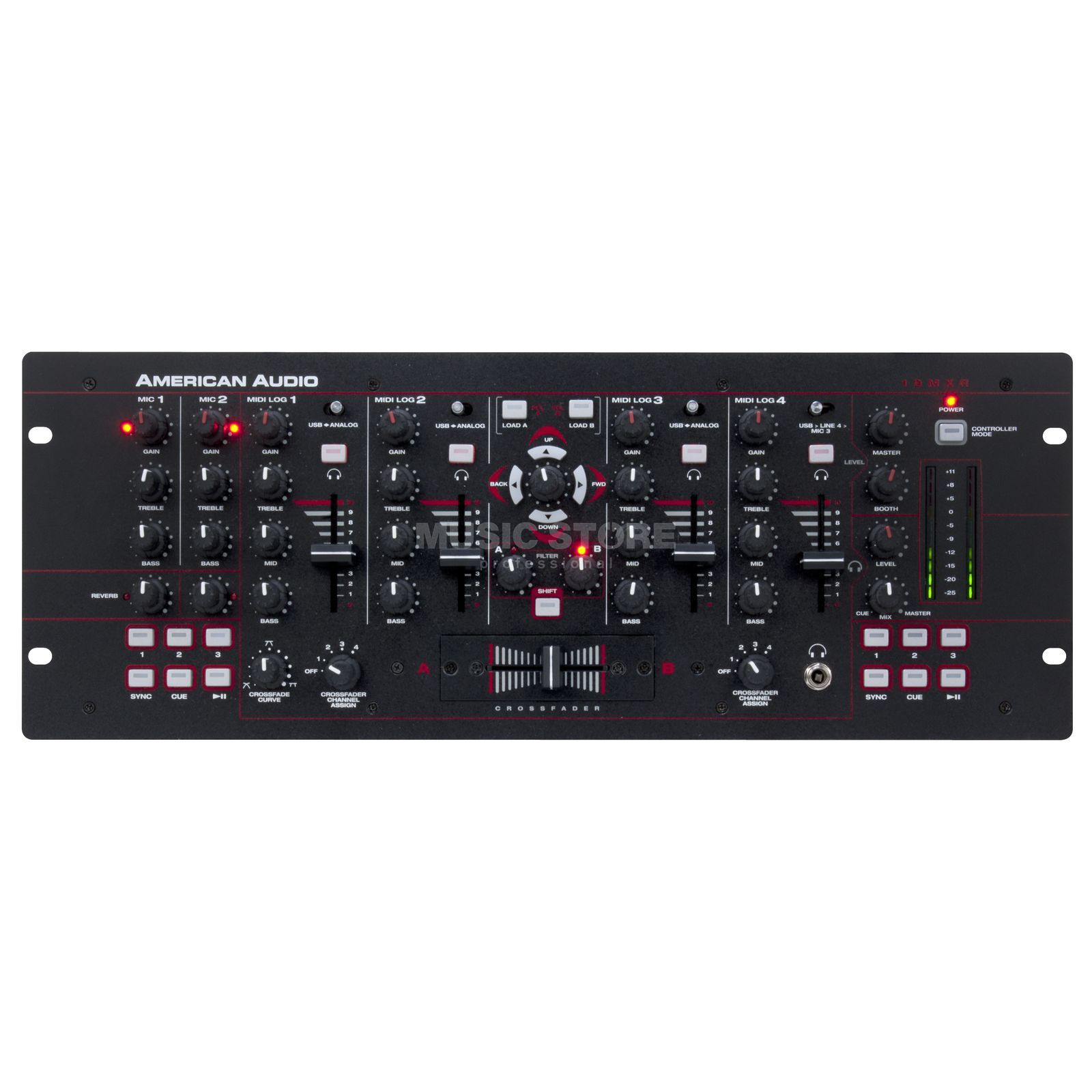 "American Audio 19 MXR 4-Channel MIDILOG Mixer, 19"" Product Image"