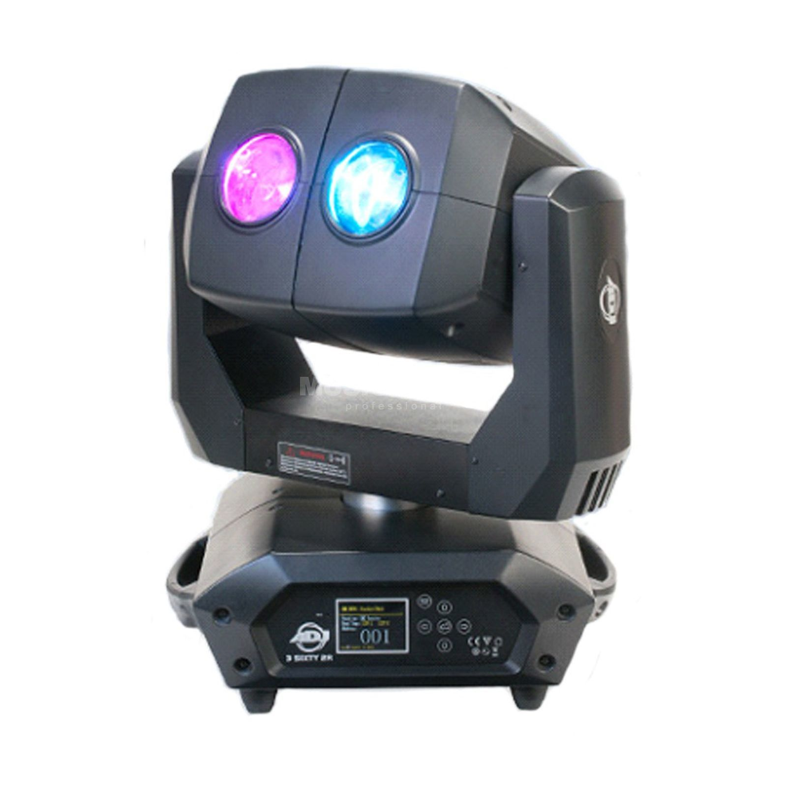 American DJ 3 Sixty 2R Dual-Moving Head, 2x4° Beam Produktbillede