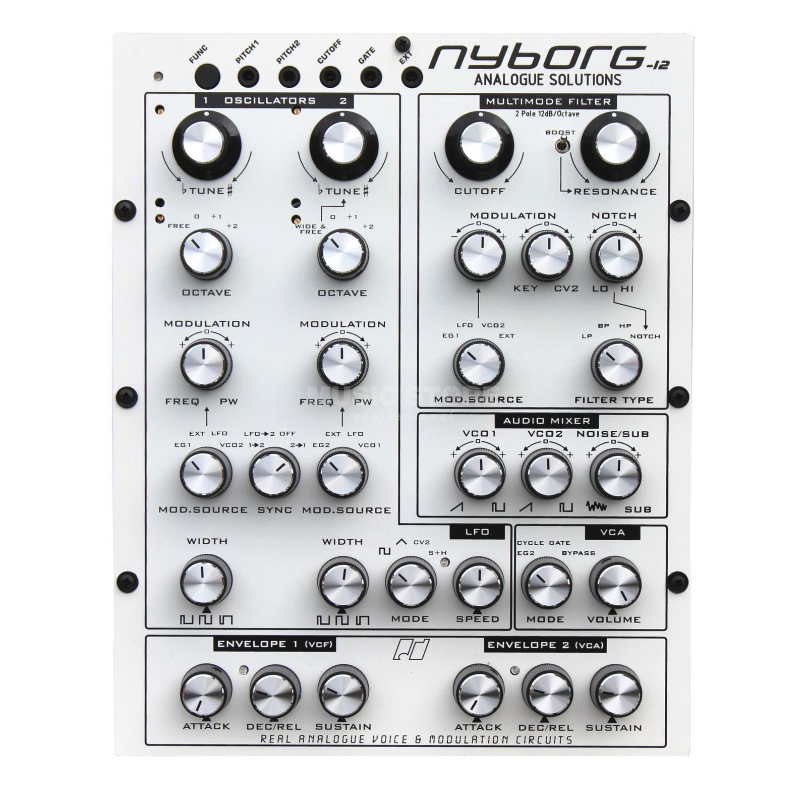 Analogue Solutions Nyborg-12 compact analogue Synth Produktbillede
