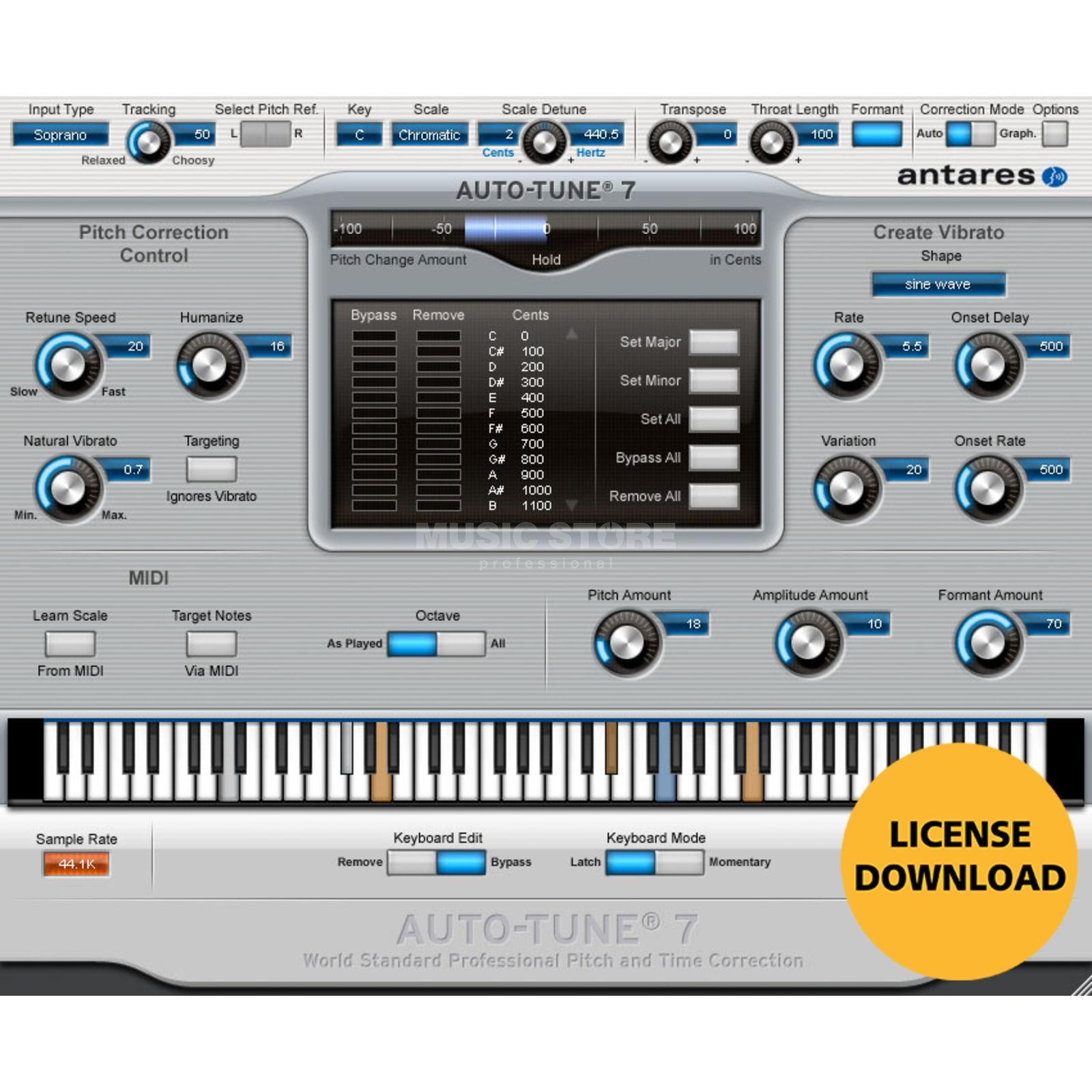 Antares Autotune 7 Licensecode TDM Plug In - Download license Produktbillede