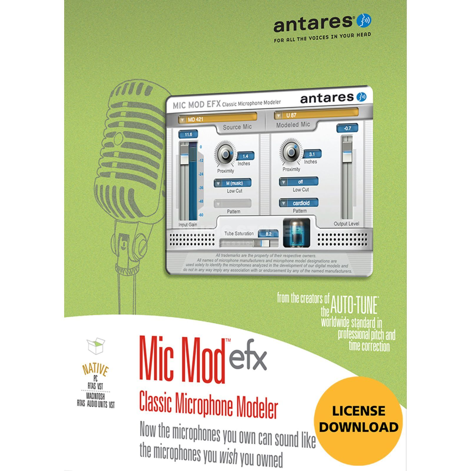 Antares Mic Mod EFX Plug In - Download license Product Image