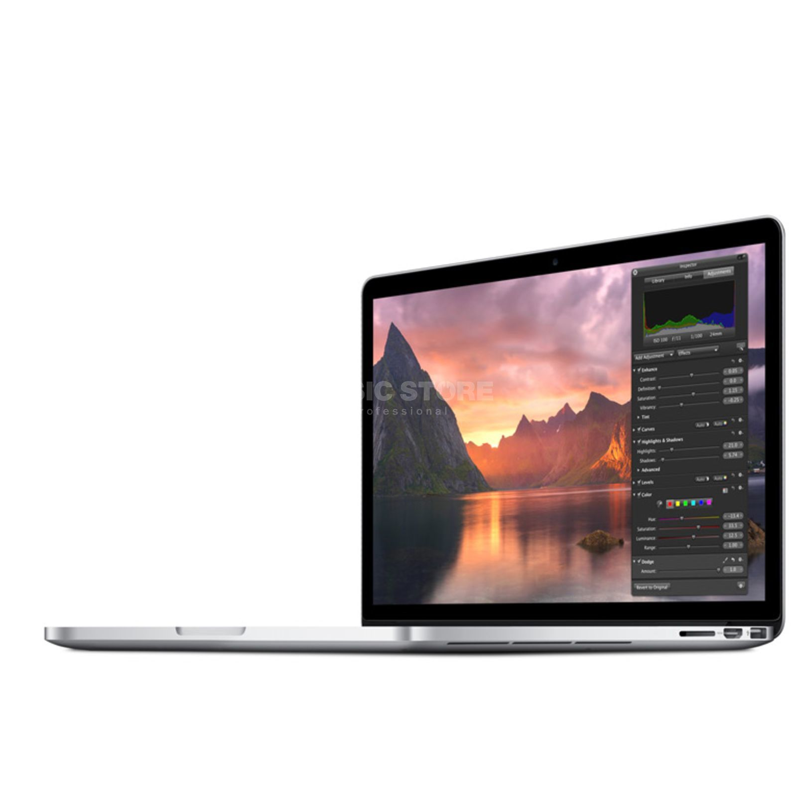 "Apple MacBook Pro 15"" 2.5GHz Retina Int.16GB RAM, 512GB PCIe Flash Produktbillede"