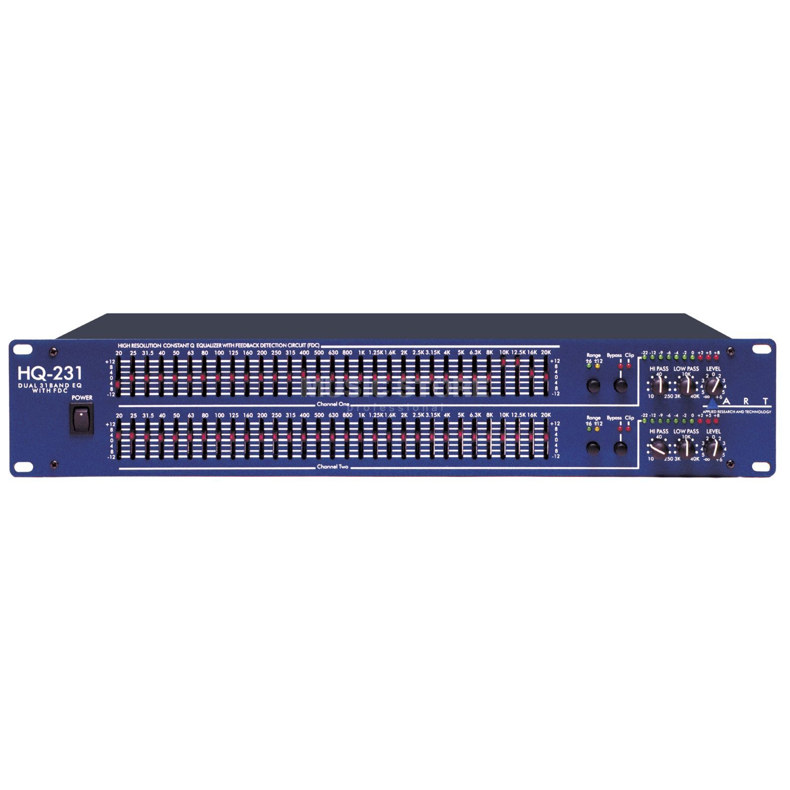 ART Applied Research & Technology HQ 231 Dual 31-Band EQ Produktbillede