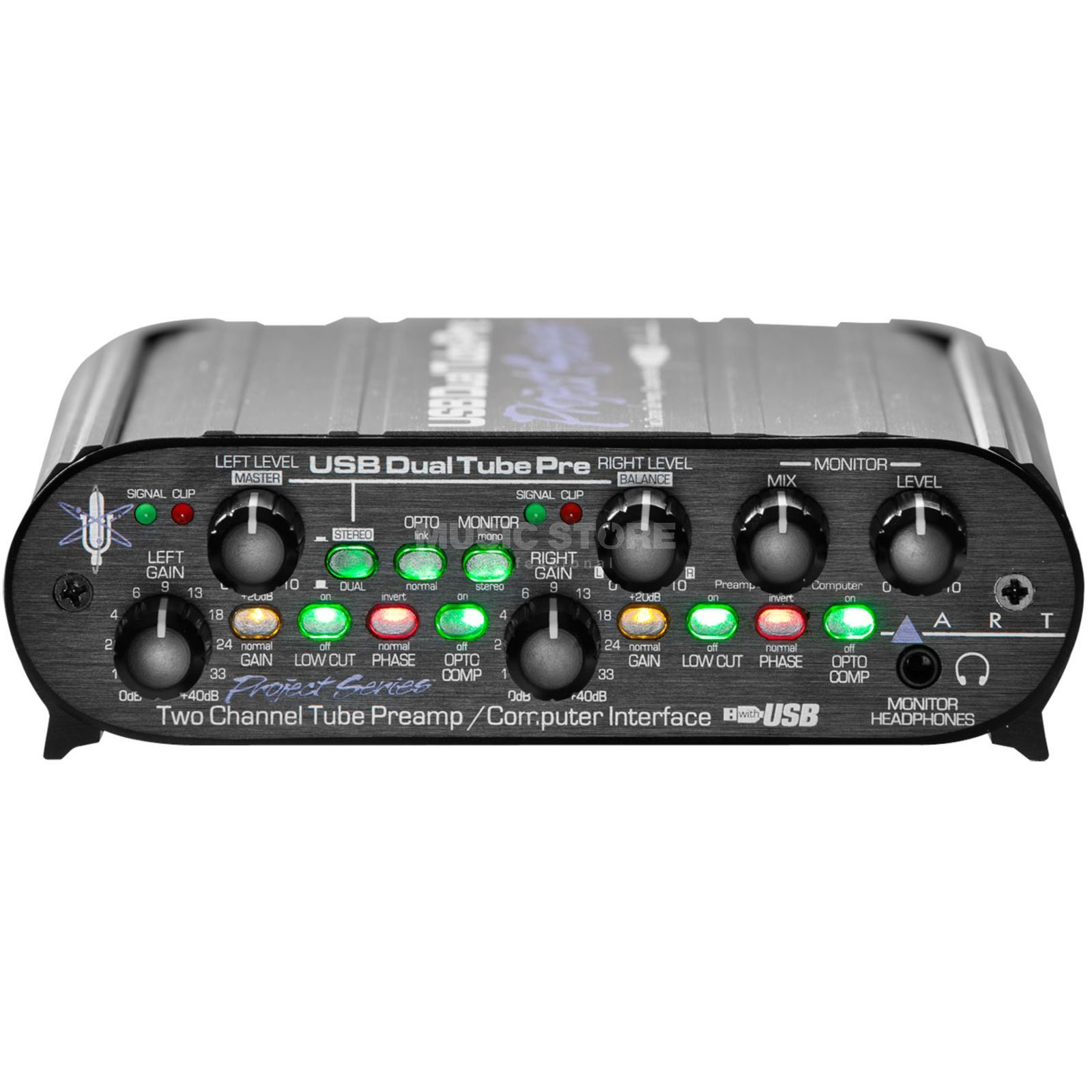 ART Applied Research & Technology USB DualTubePre 2-Kanal Preamp mit USB Produktbild