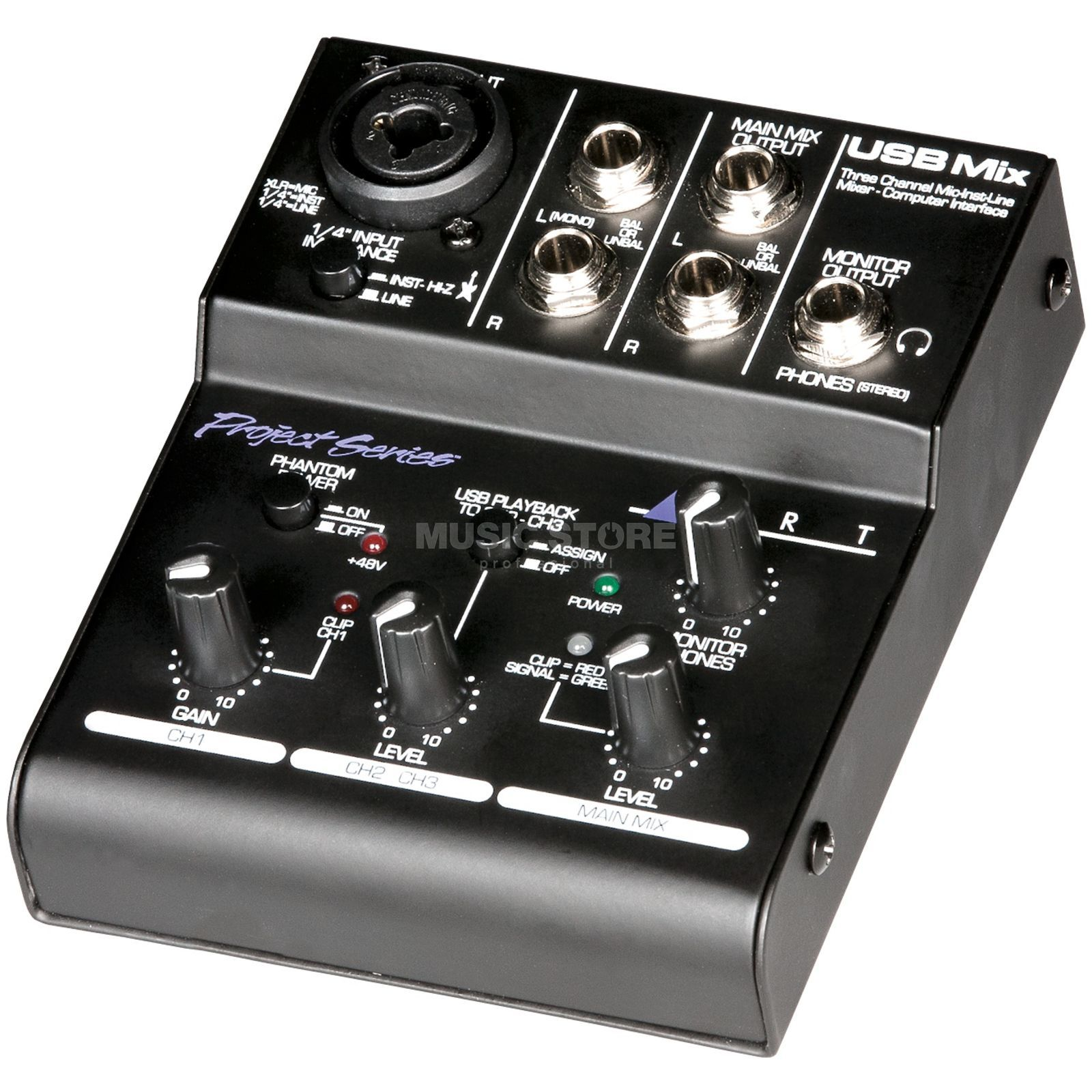 ART Applied Research & Technology USB Mix - MiniMixer with USB2.0 and Phantom Power Produktbillede