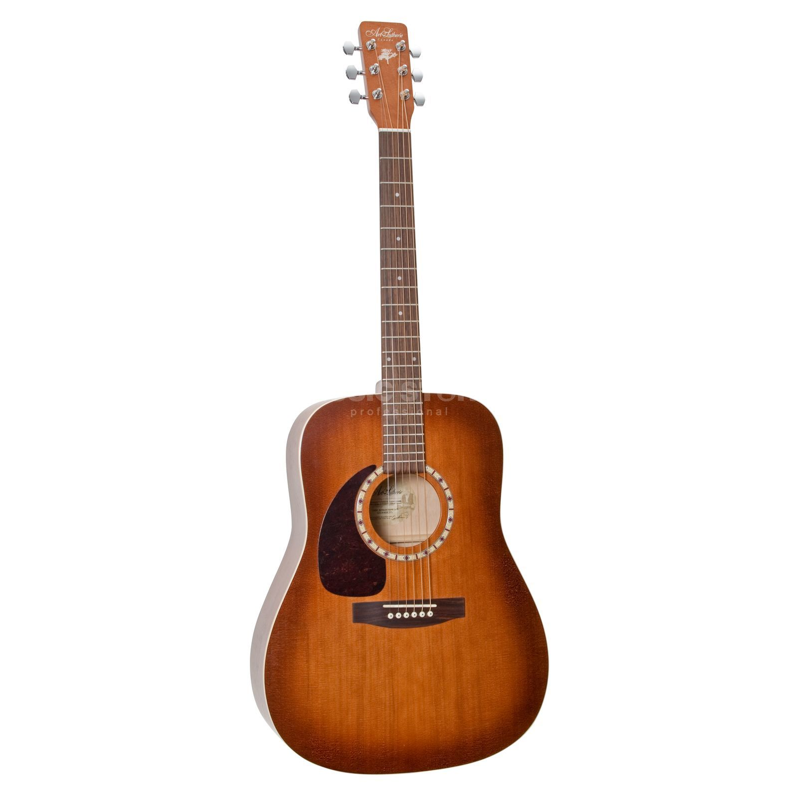 Art Lutherie Cedar Lefthand Antique Burst Dreadnought Produktbild