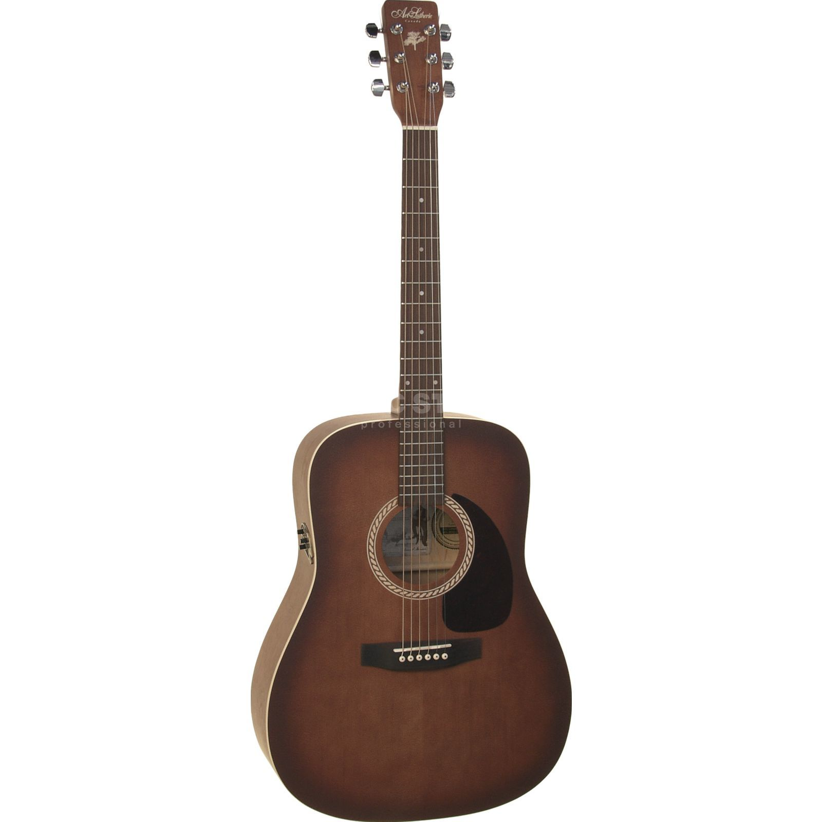 Art Lutherie Cedar Q1 Antique Burst Dreadnought mit Quantum I Produktbild