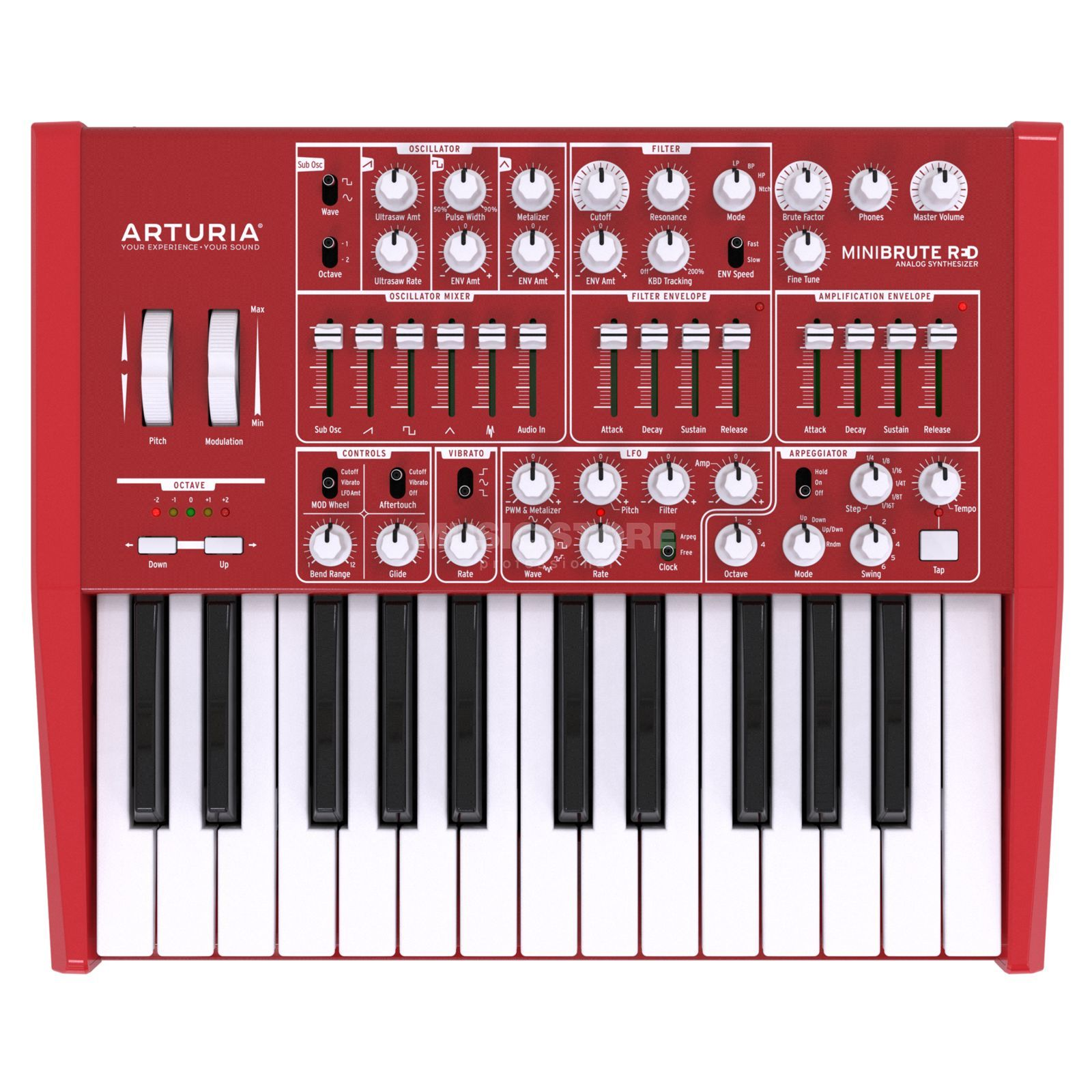 Arturia MiniBrute Red Analog Synthesizer Produktbild