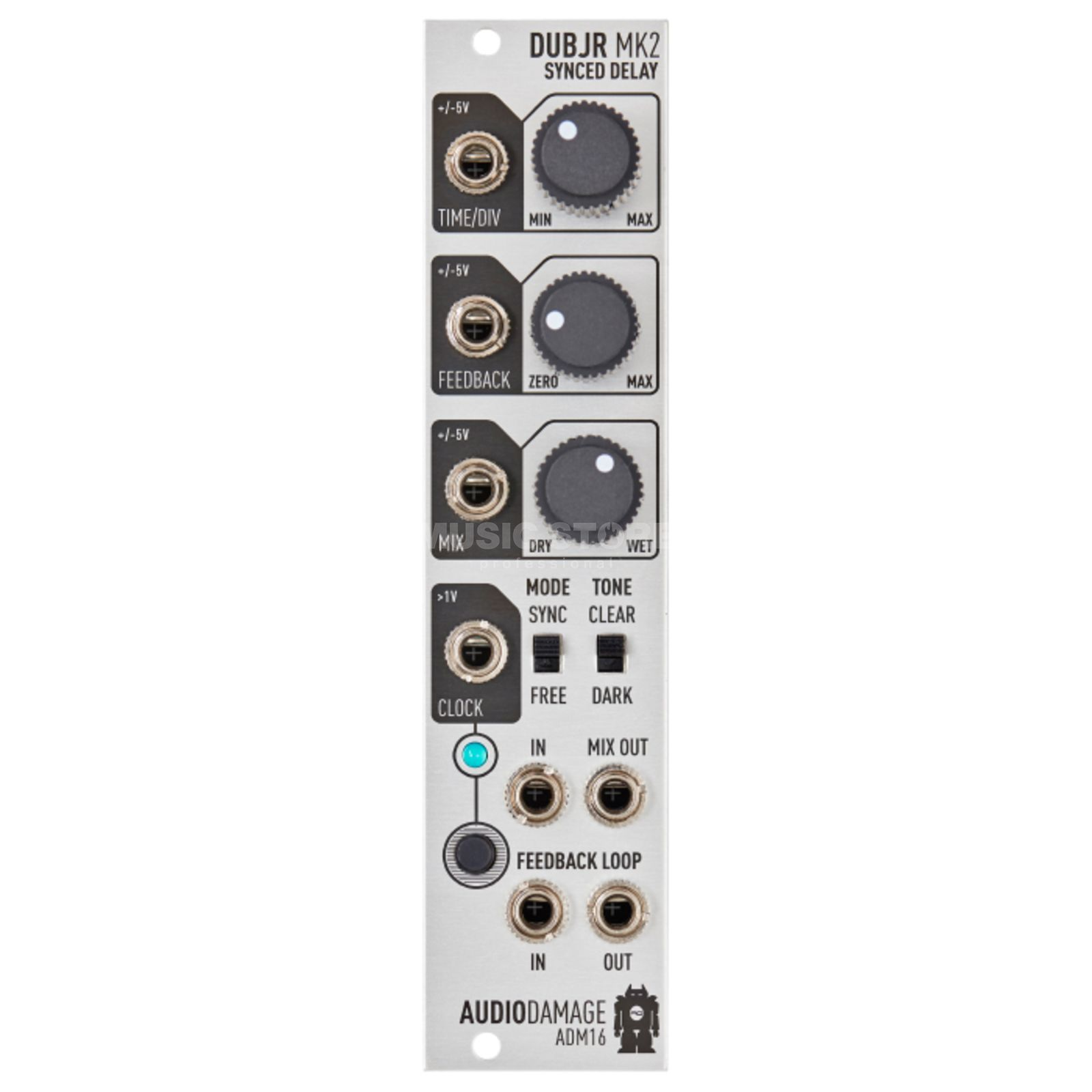 Audio Damage ADM16 Dub Jr. MKII Clock Synced Delay Product Image