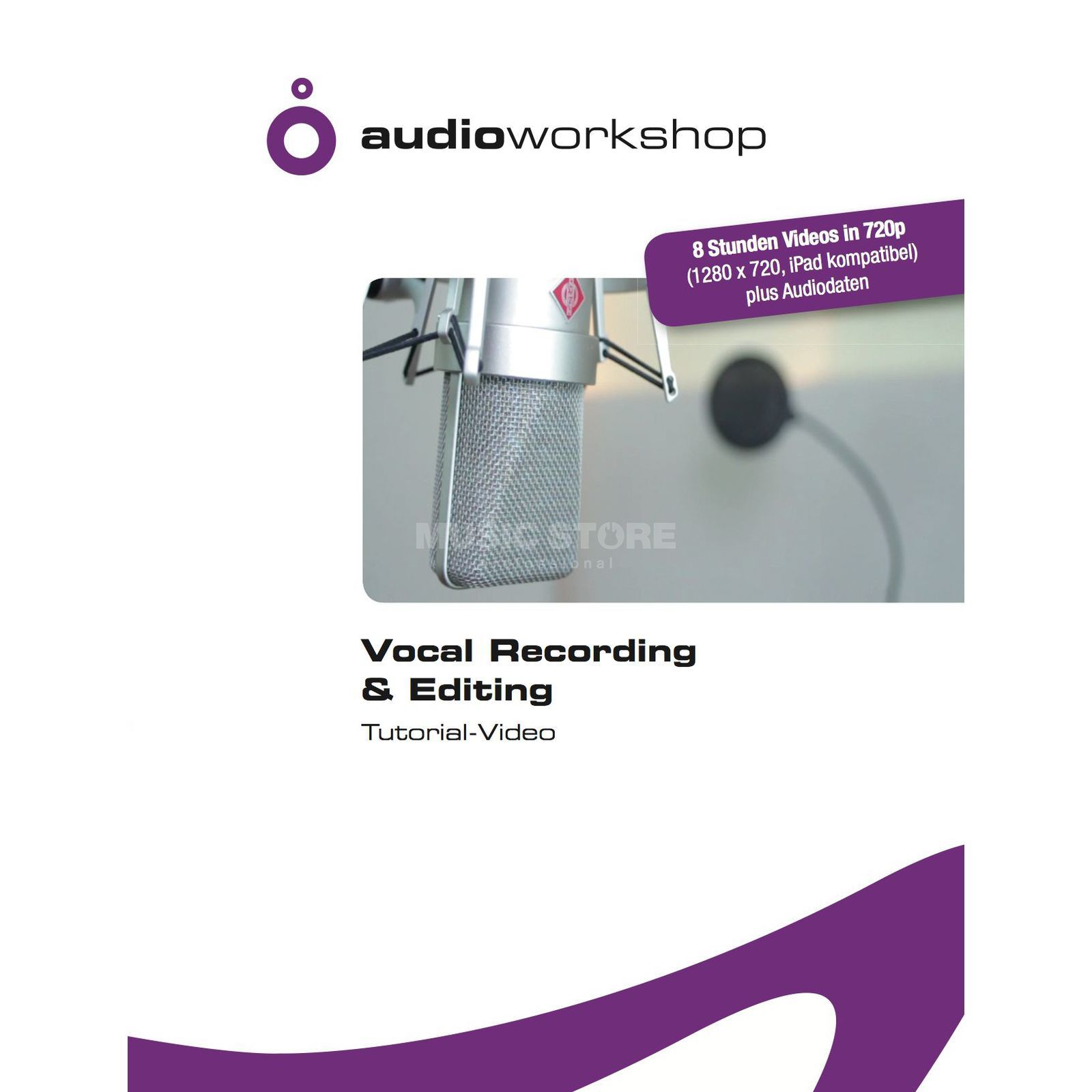 Audio Workshop Vocal Recording & Editing Tutorial Video DVD Produktbillede