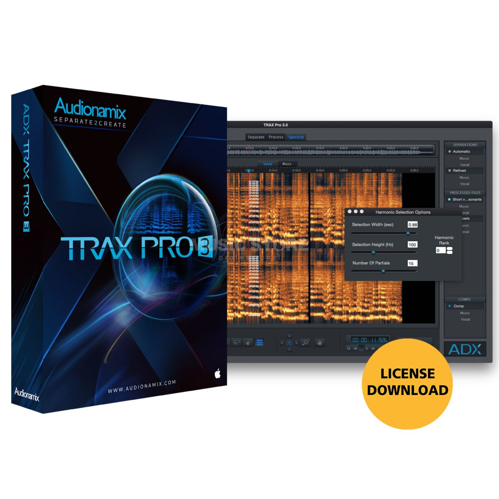 AUDIONAMIX INC. TRAX PRO License Code Product Image
