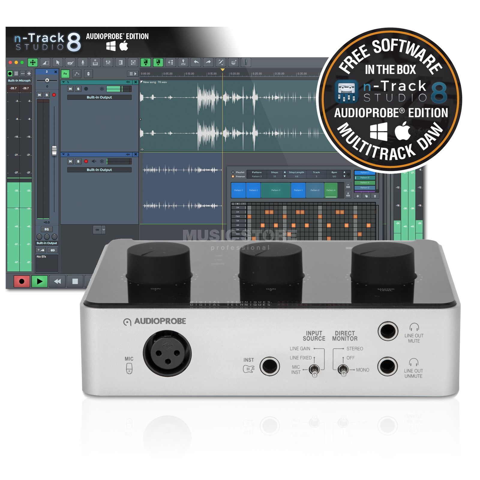 Audioprobe CUE 110 n-Track Bundle USB-Audiointerface Produktbild