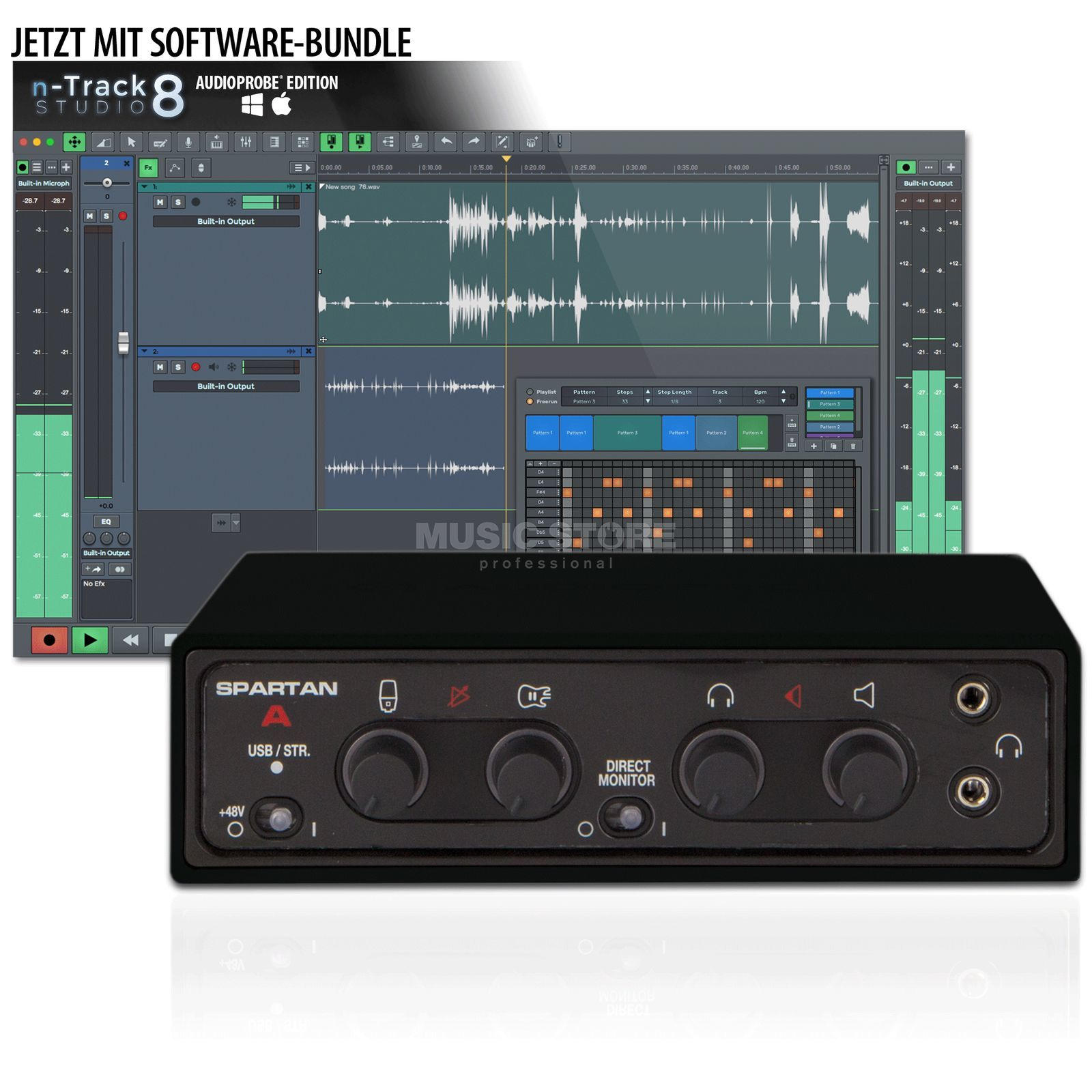 Audioprobe Spartan A BLACK & n-Track Bundle Product Image