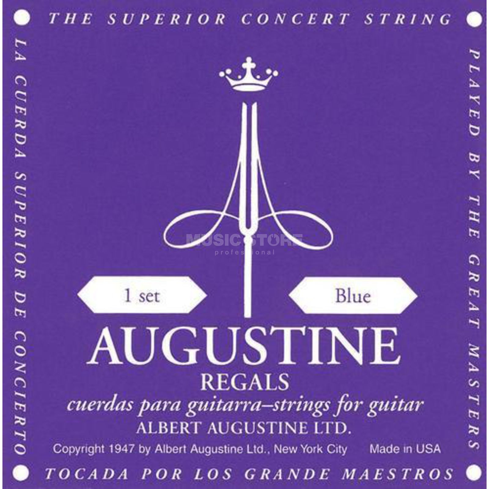 Augustine Classic Regal Blue Satz High Tension Produktbillede