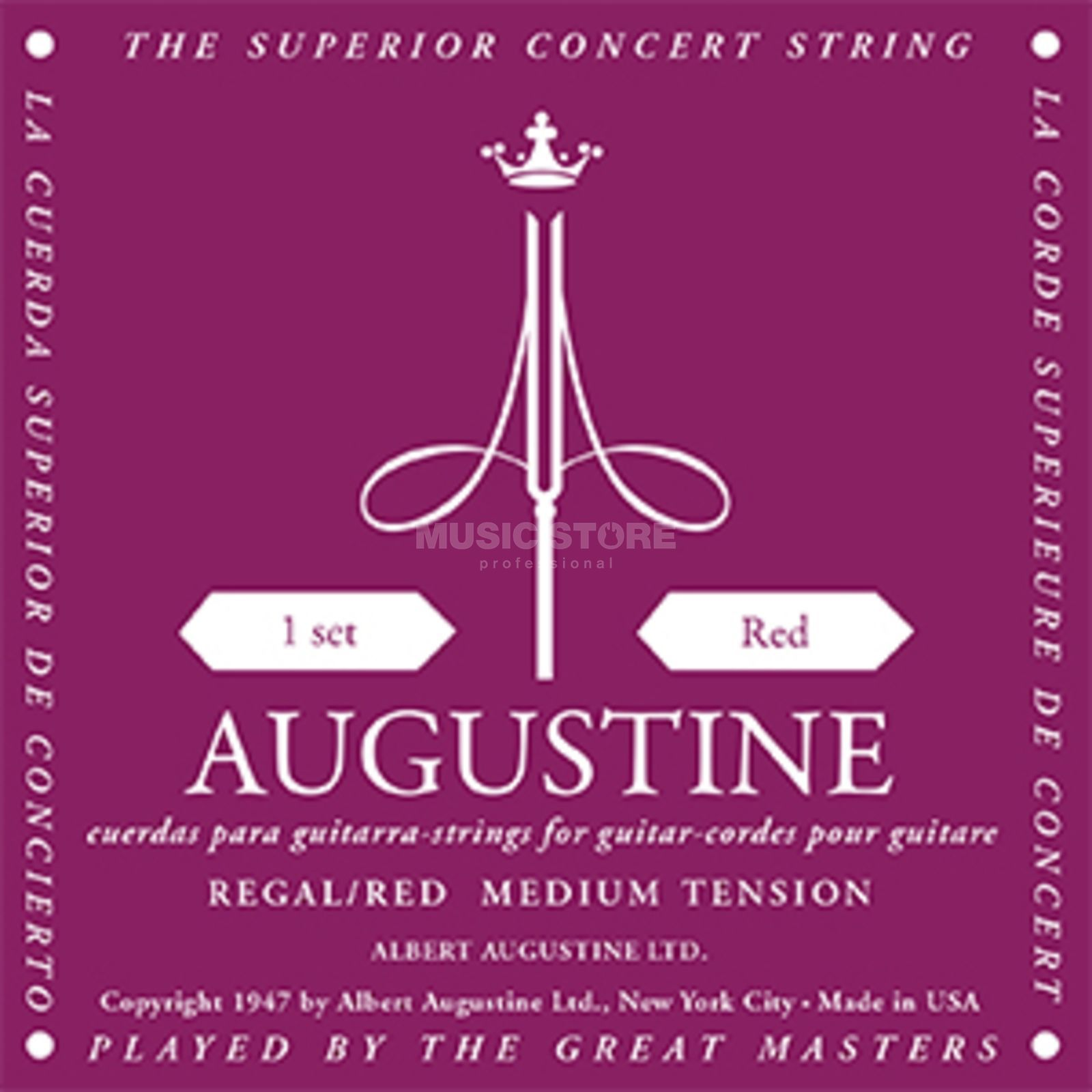Augustine Classic Regal Red Satz Medium Tension Produktbillede