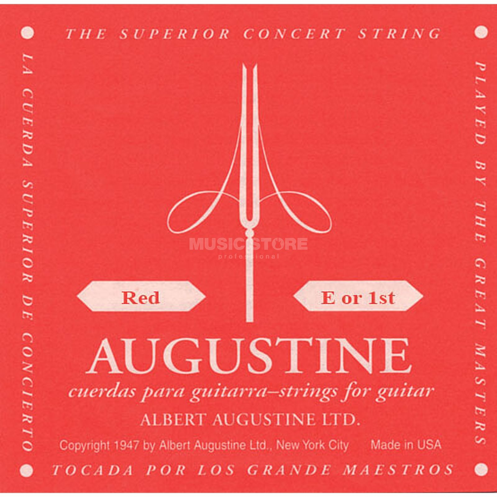 Augustine Single String, 1e red  Produktbillede